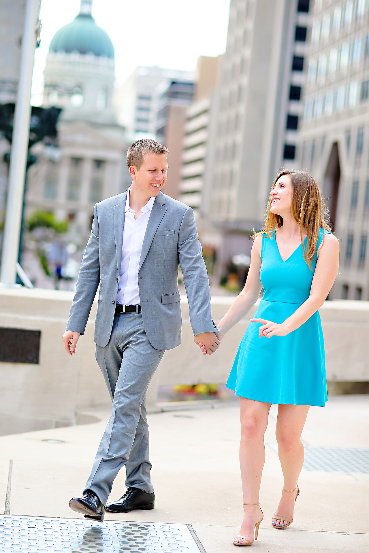 Chelsea Jeff Downtown Indy Engagement Session 089