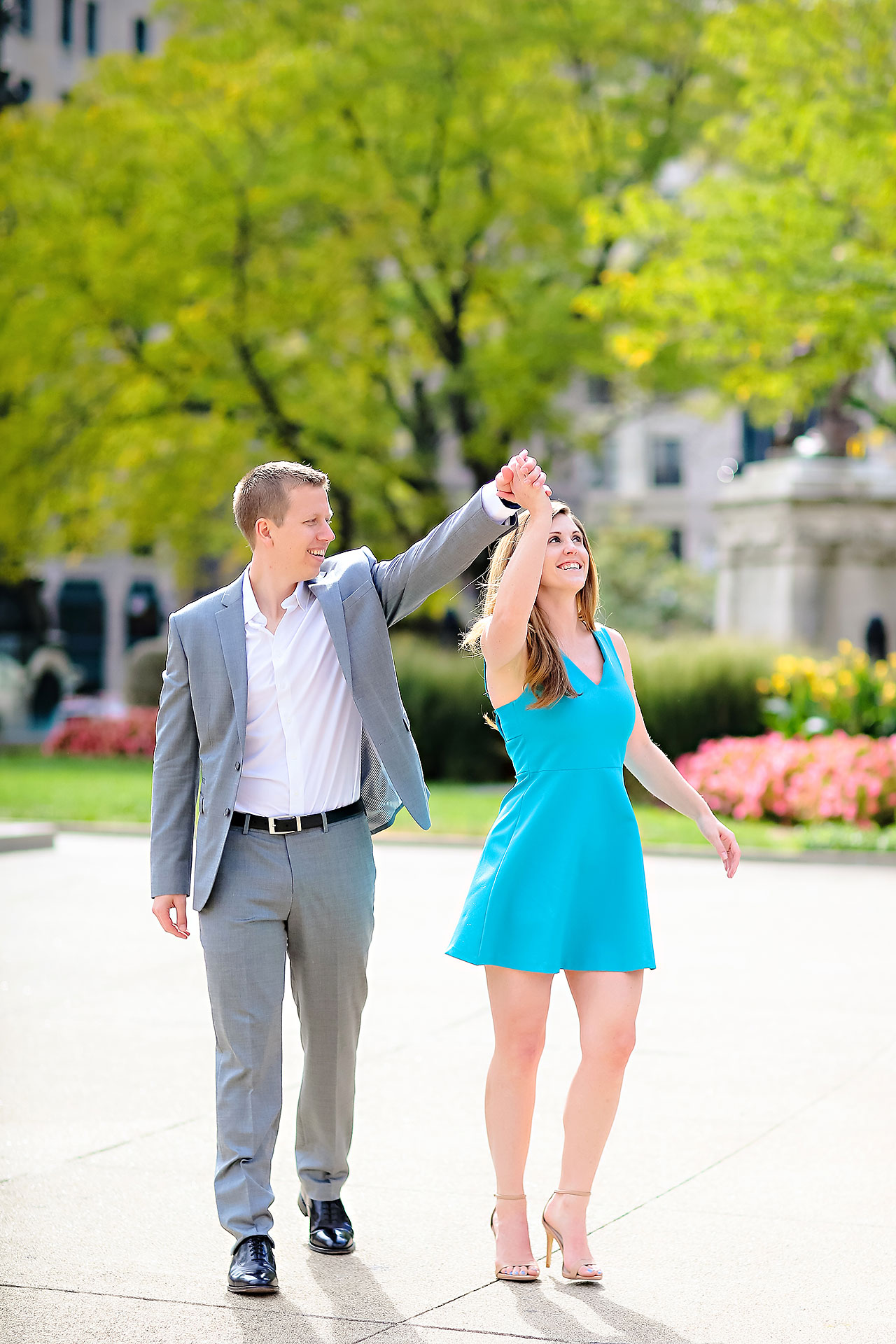 Chelsea Jeff Downtown Indy Engagement Session 081