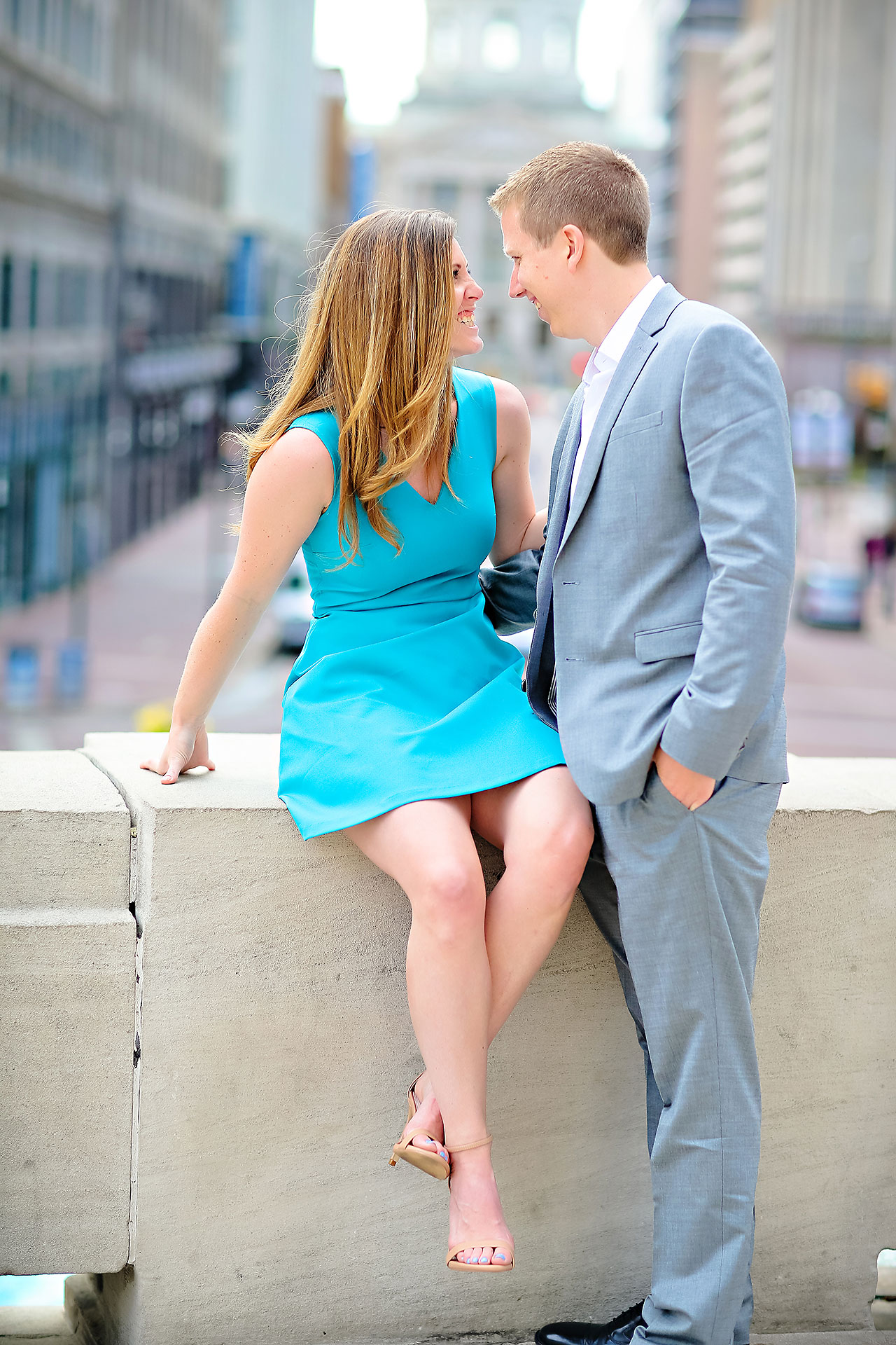Chelsea Jeff Downtown Indy Engagement Session 080