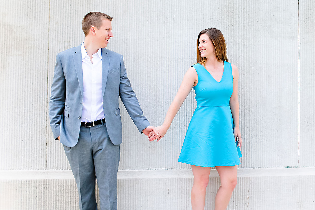 Chelsea Jeff Downtown Indy Engagement Session 070