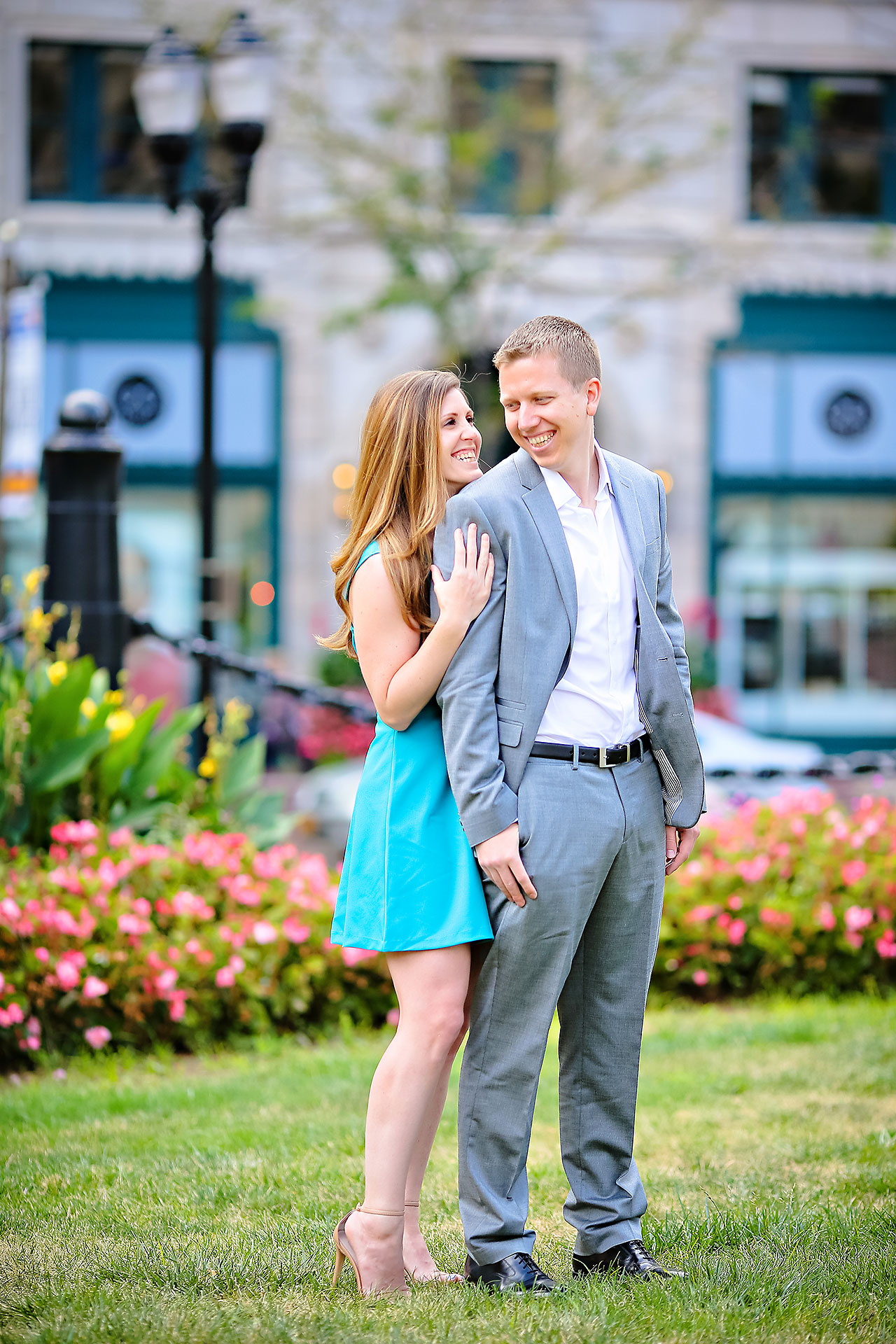 Chelsea Jeff Downtown Indy Engagement Session 063