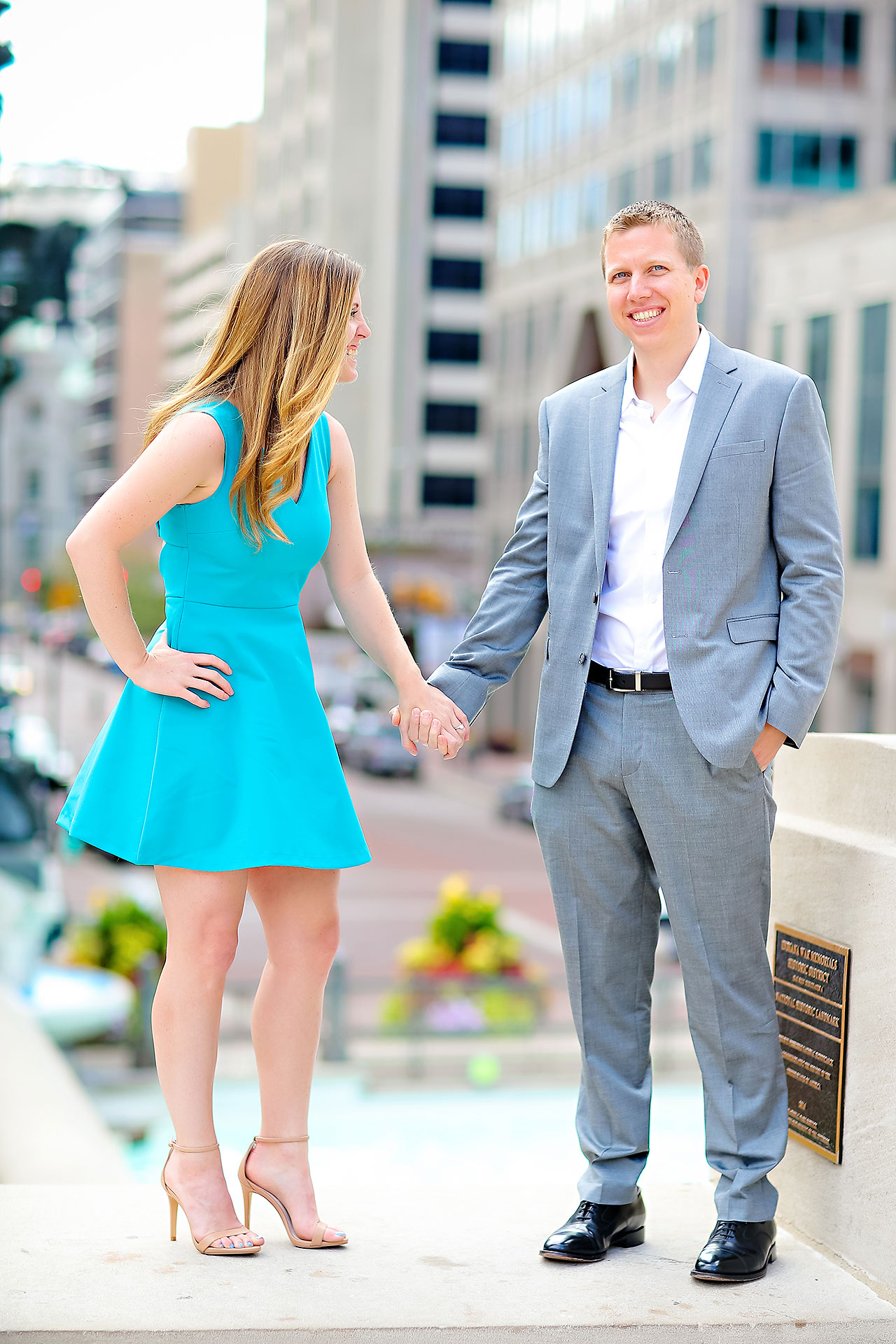 Chelsea Jeff Downtown Indy Engagement Session 061
