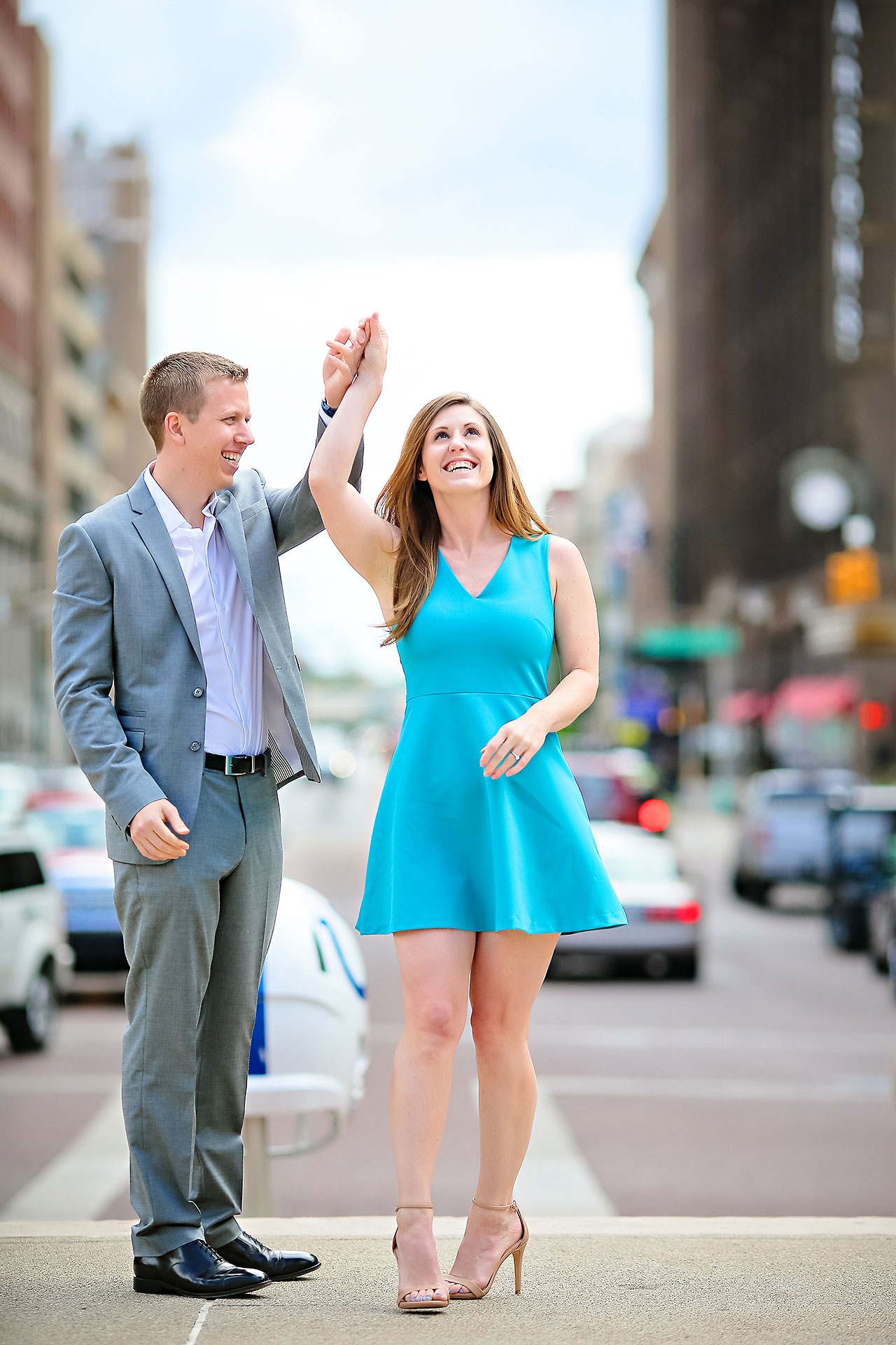 Chelsea Jeff Downtown Indy Engagement Session 053