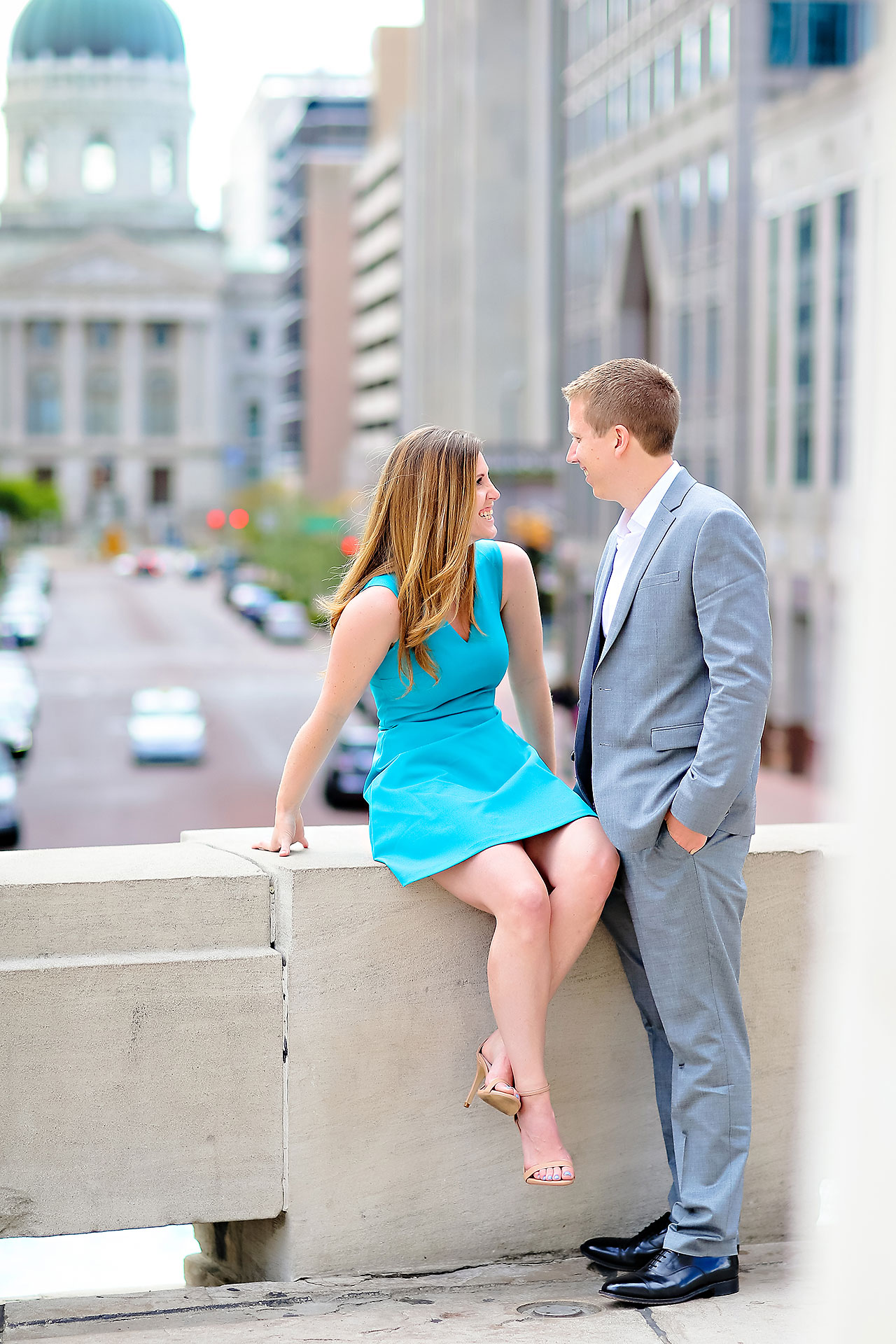 Chelsea Jeff Downtown Indy Engagement Session 039