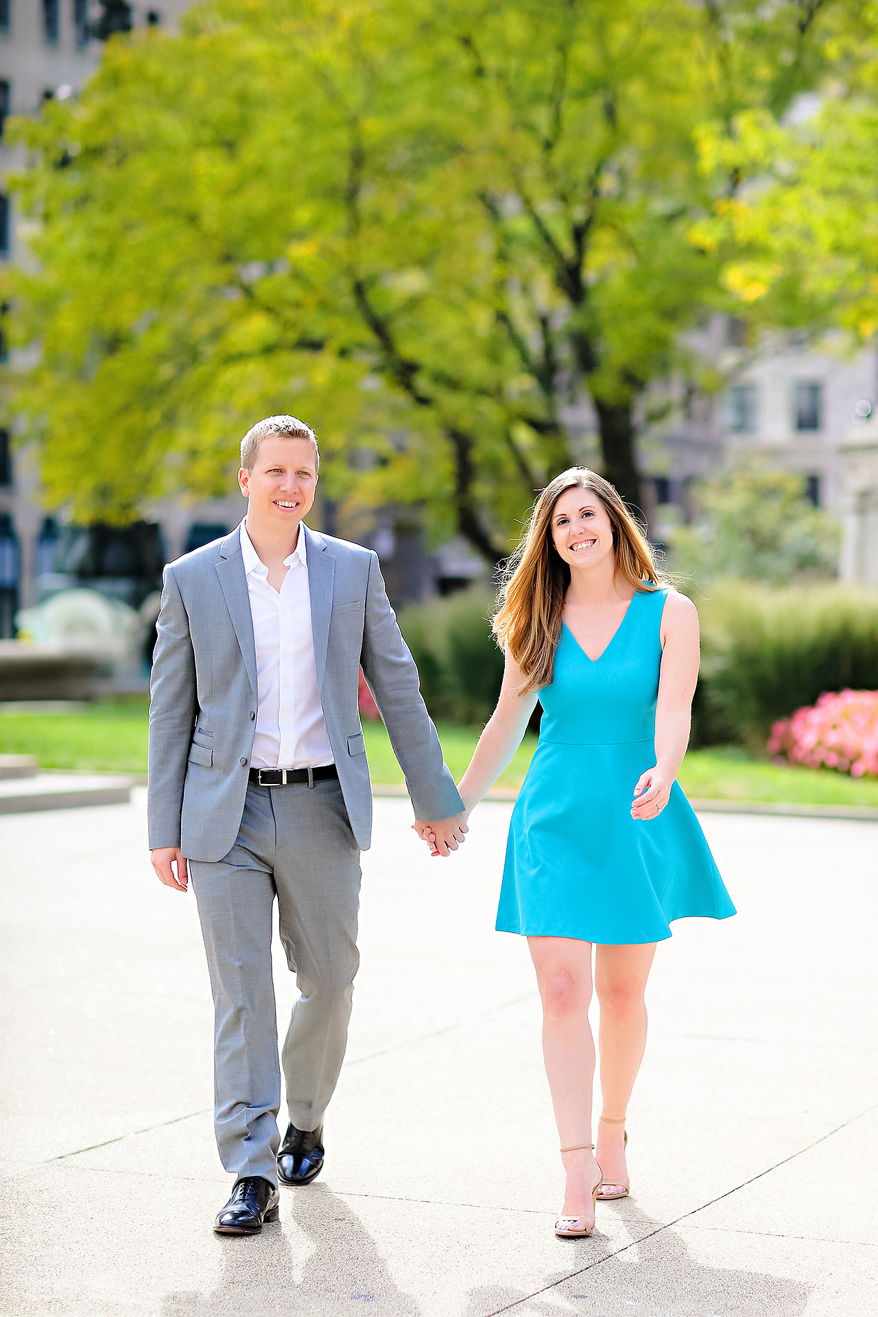 Chelsea Jeff Downtown Indy Engagement Session 009