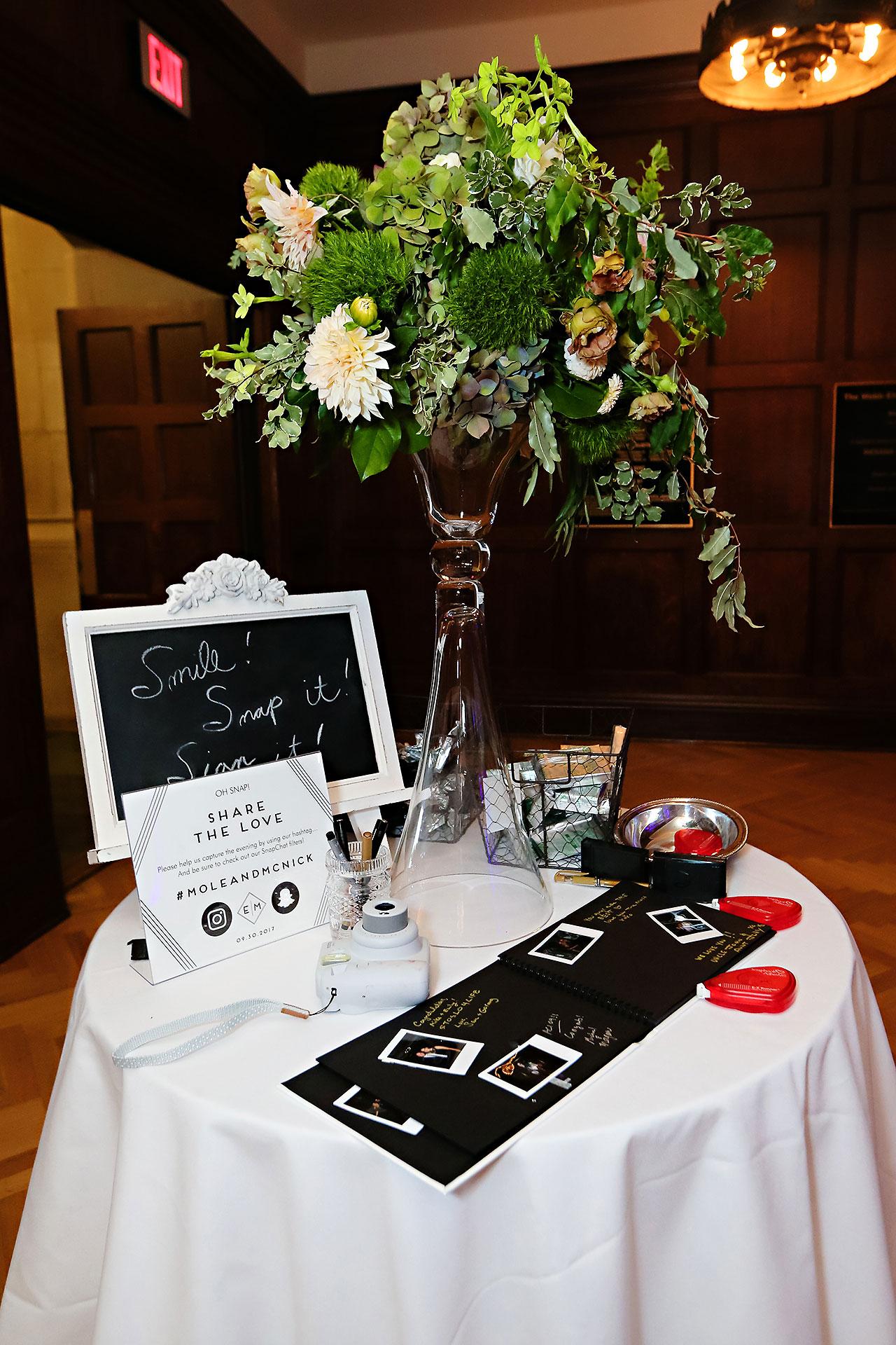Emily Michael IU Wedding Alumni Hall 327