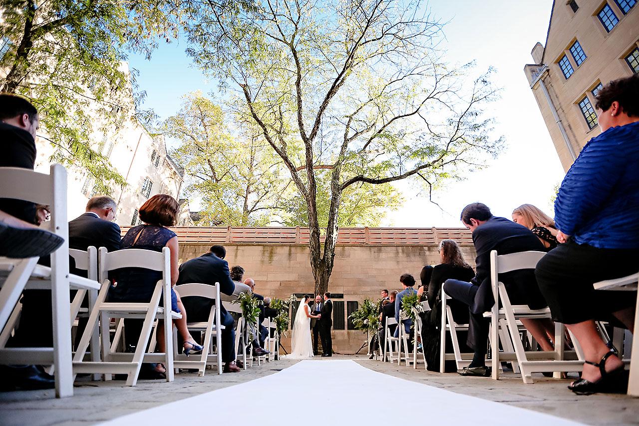 Emily Michael IU Wedding Alumni Hall 208