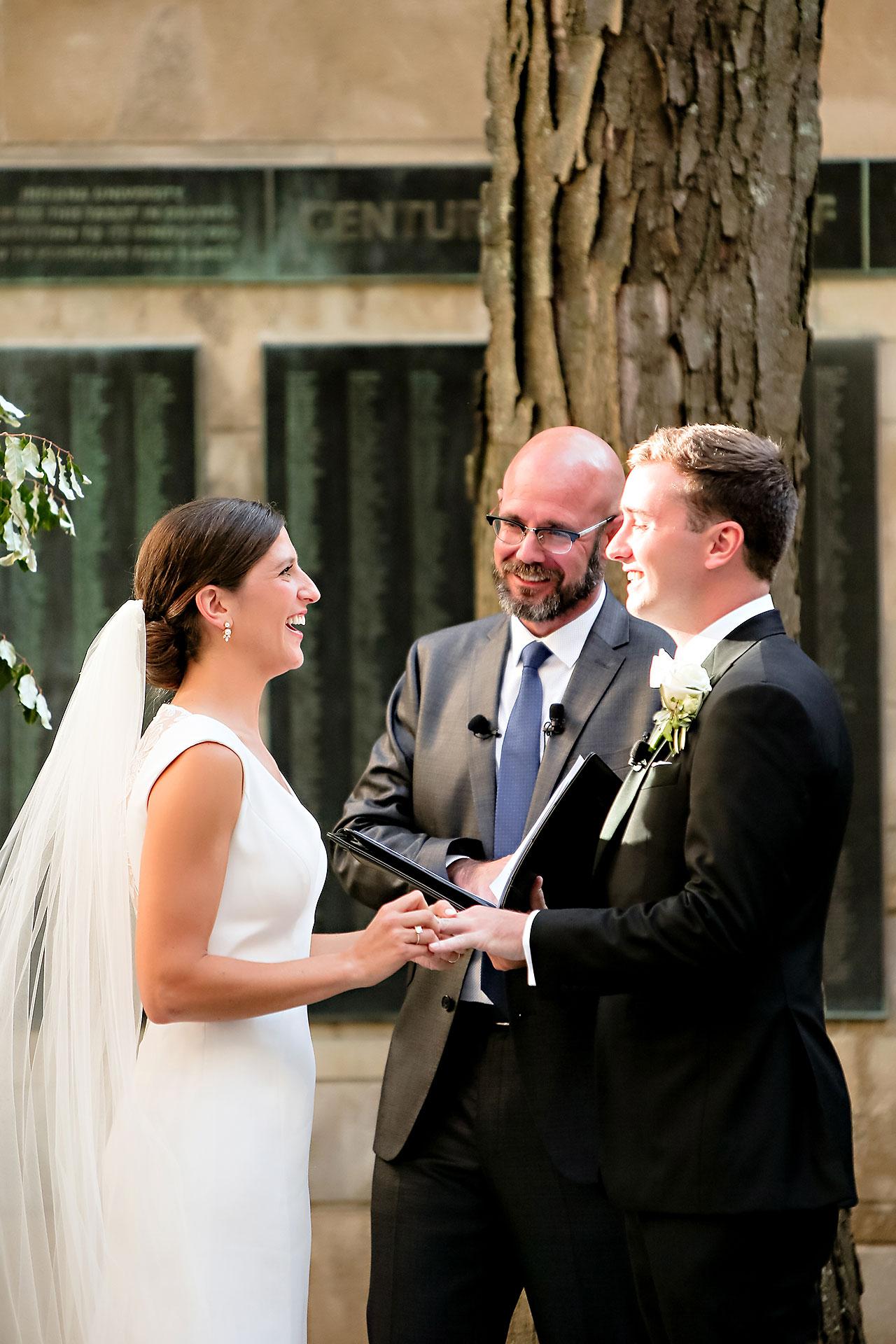 Emily Michael IU Wedding Alumni Hall 204