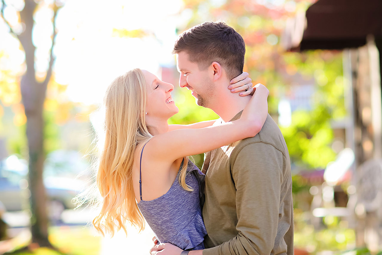 Molly Declan Zionsville Engagement Session 113