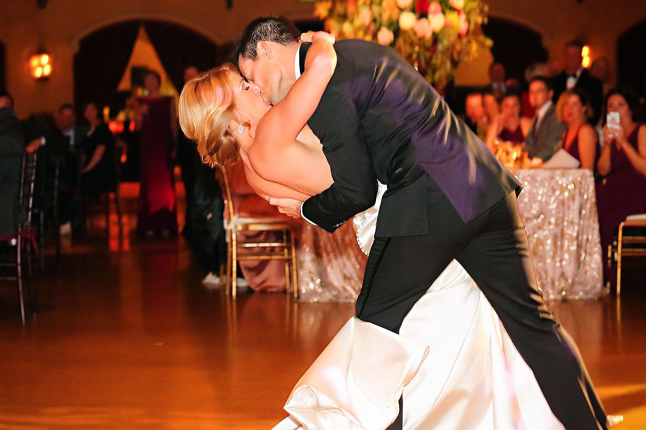 Kayci Matt Indiana Roof Ballroom Indianapolis Wedding 338