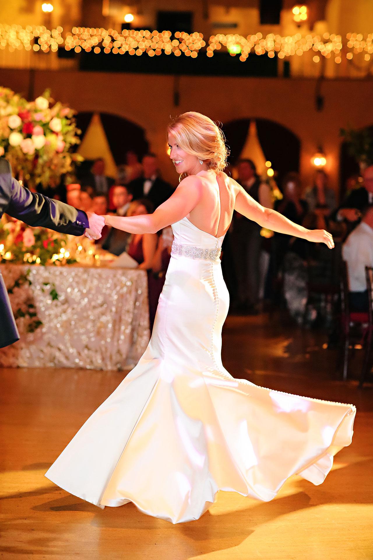 Kayci Matt Indiana Roof Ballroom Indianapolis Wedding 335