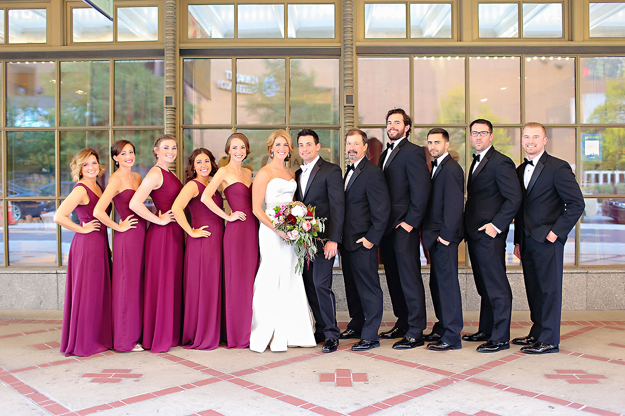 Kayci Matt Indiana Roof Ballroom Indianapolis Wedding 251