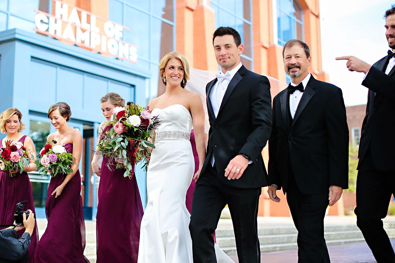 Kayci Matt Indiana Roof Ballroom Indianapolis Wedding 143