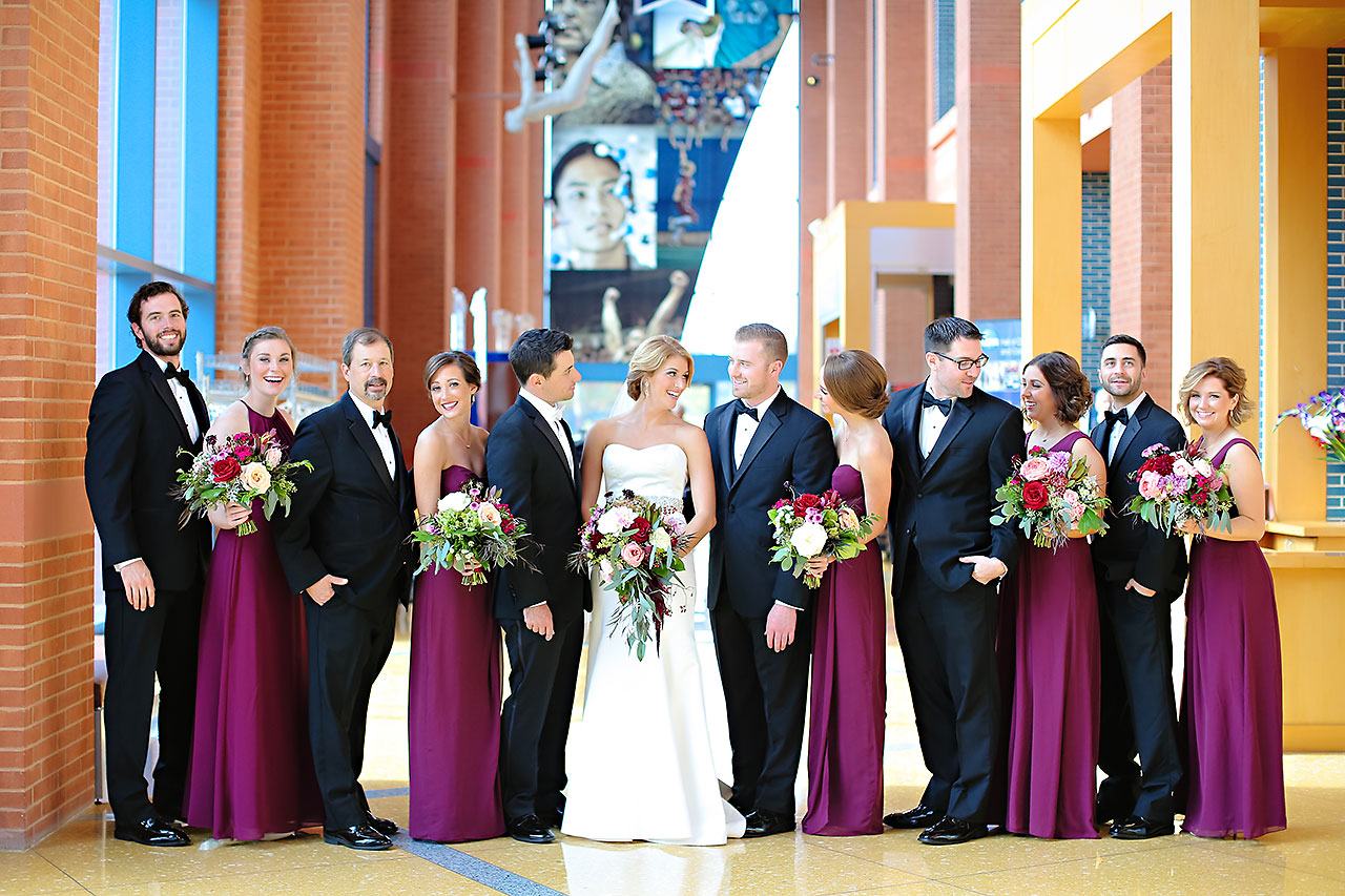 Kayci Matt Indiana Roof Ballroom Indianapolis Wedding 099