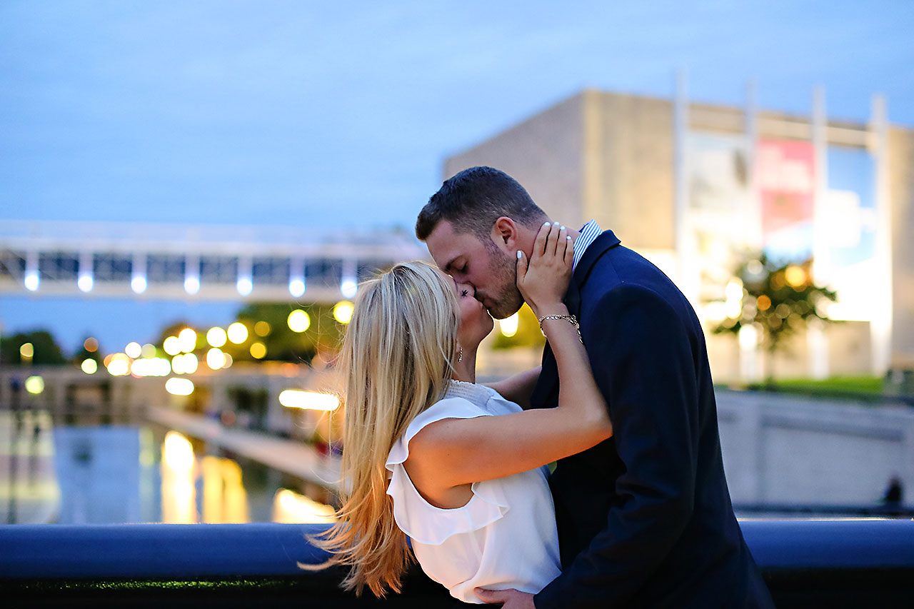 Jennie Mark Downtown Indianapolis Engagement Session 152