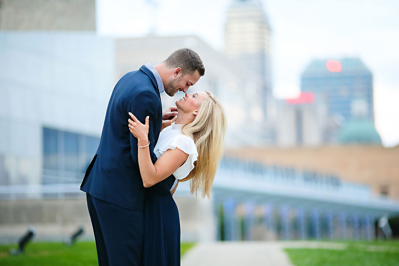 Jennie Mark Downtown Indianapolis Engagement Session 150