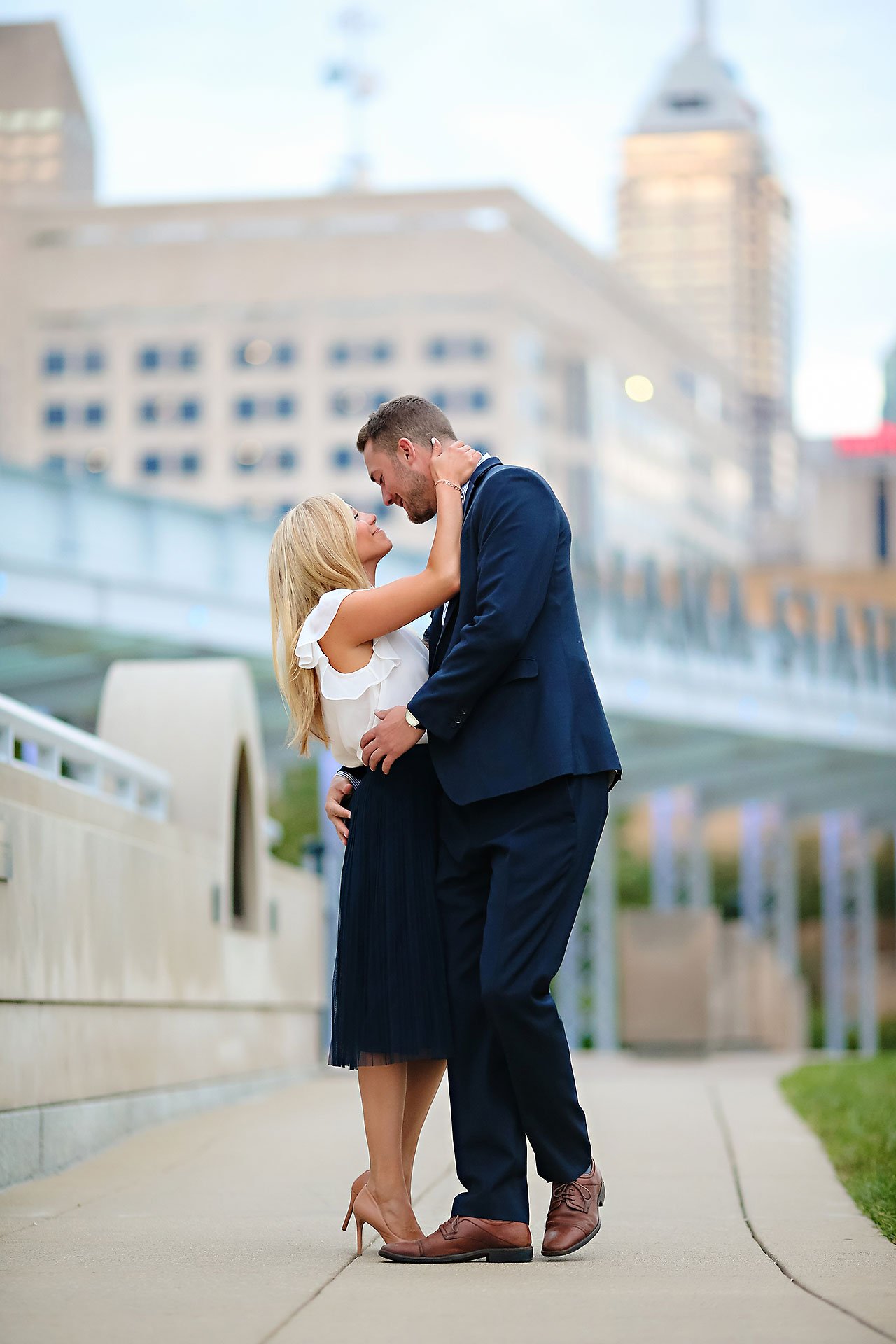 Jennie Mark Downtown Indianapolis Engagement Session 147