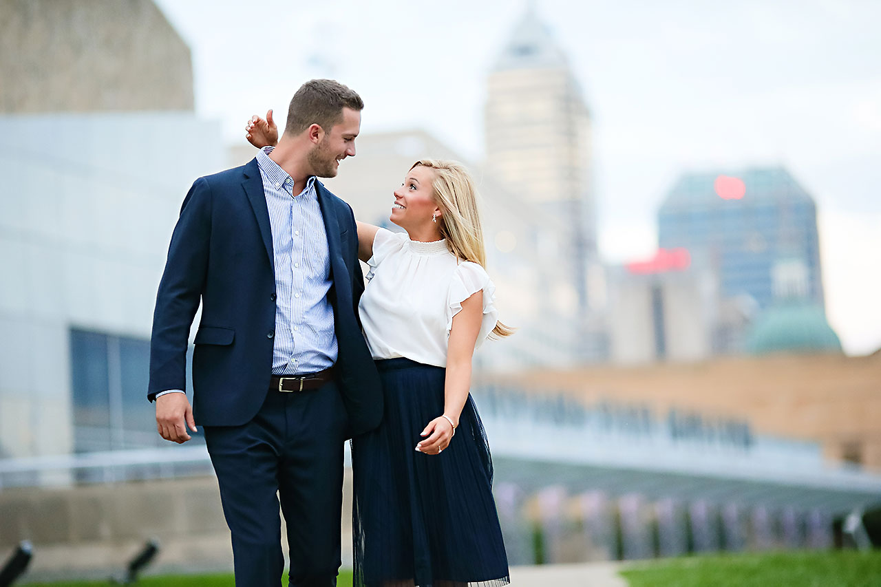 Jennie Mark Downtown Indianapolis Engagement Session 141
