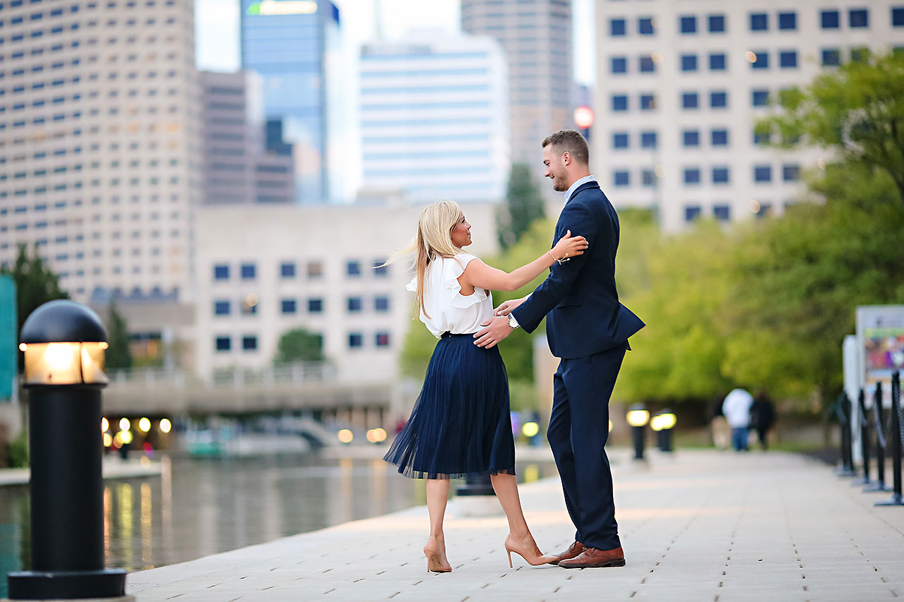 Jennie Mark Downtown Indianapolis Engagement Session 142