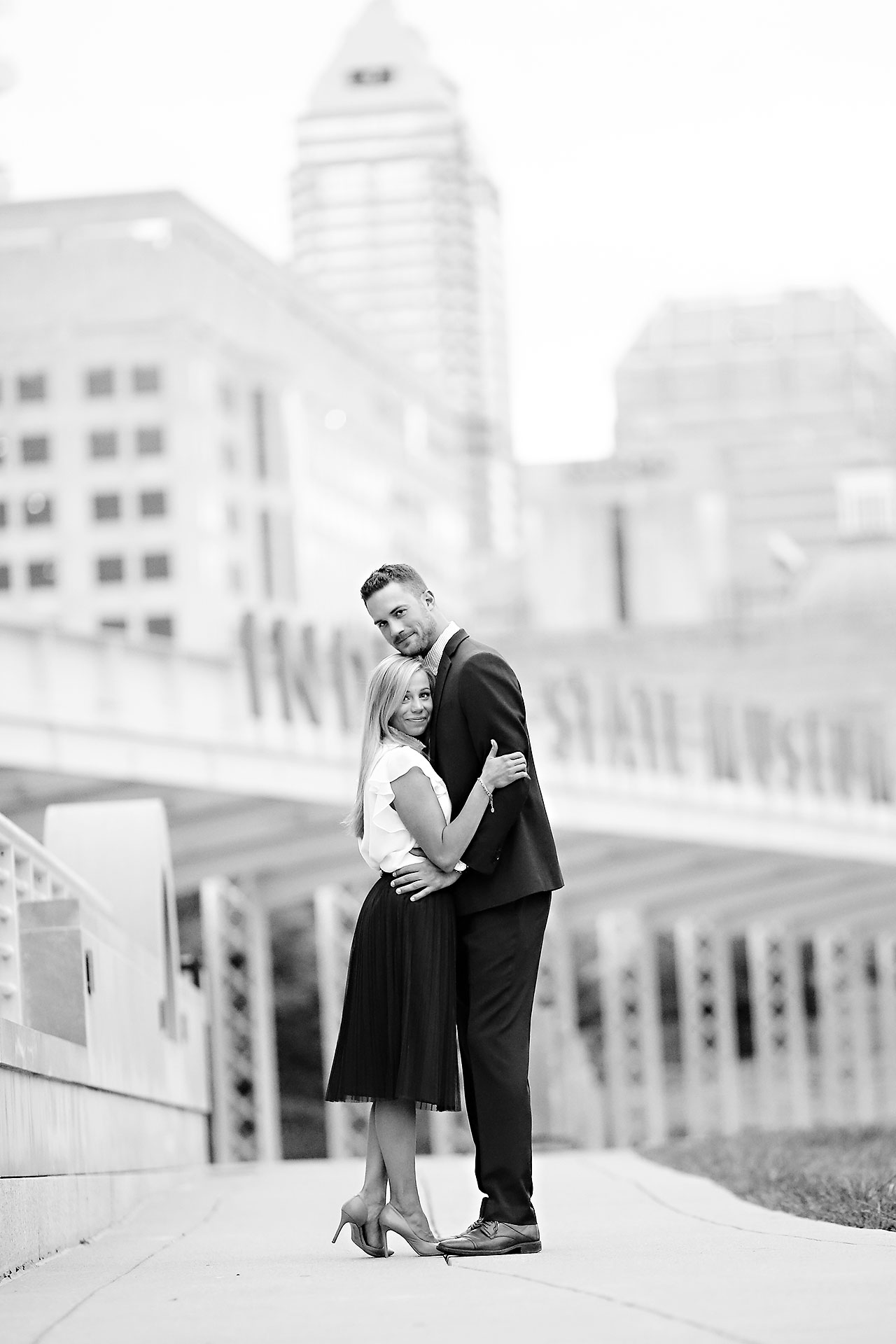 Jennie Mark Downtown Indianapolis Engagement Session 140