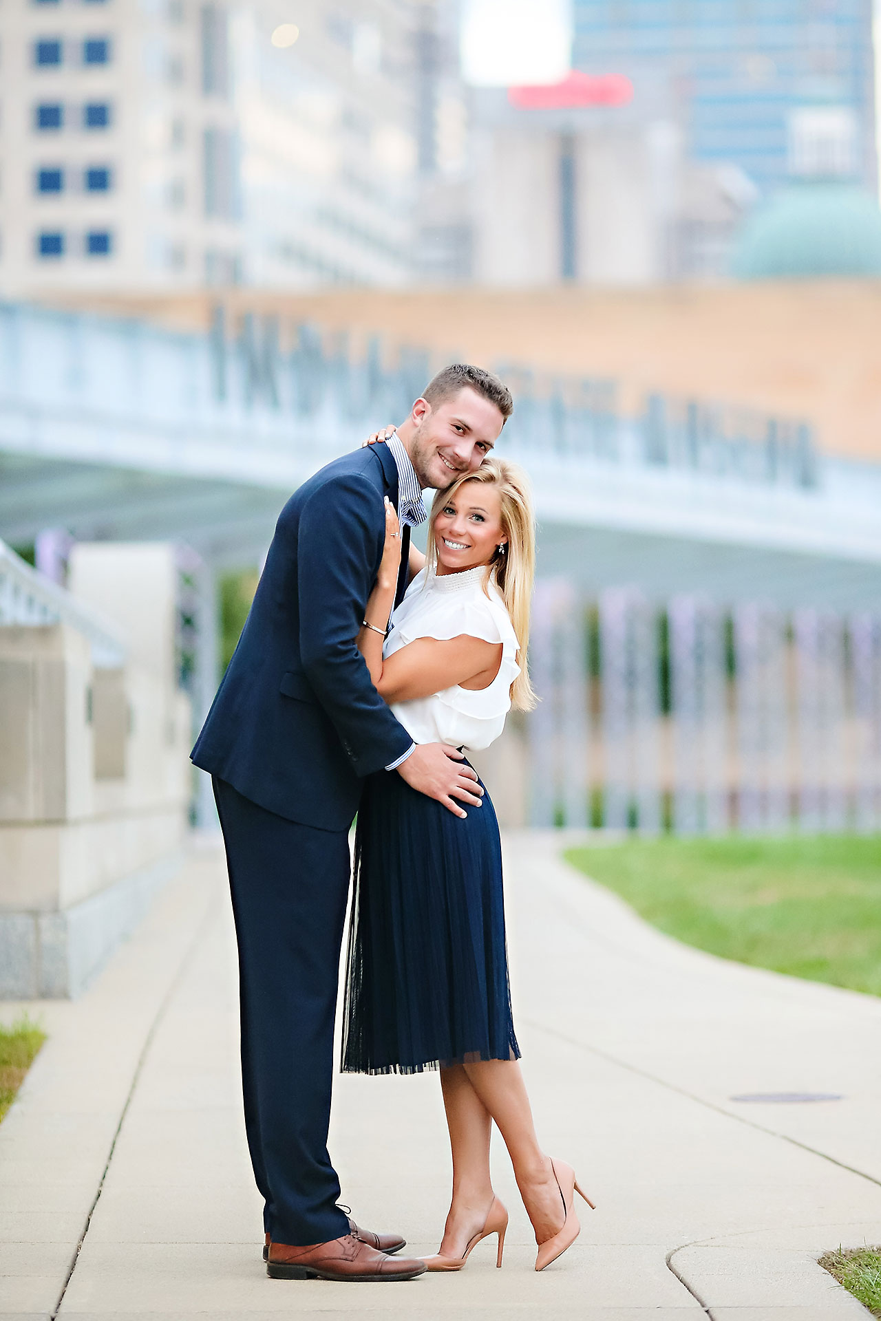 Jennie Mark Downtown Indianapolis Engagement Session 135