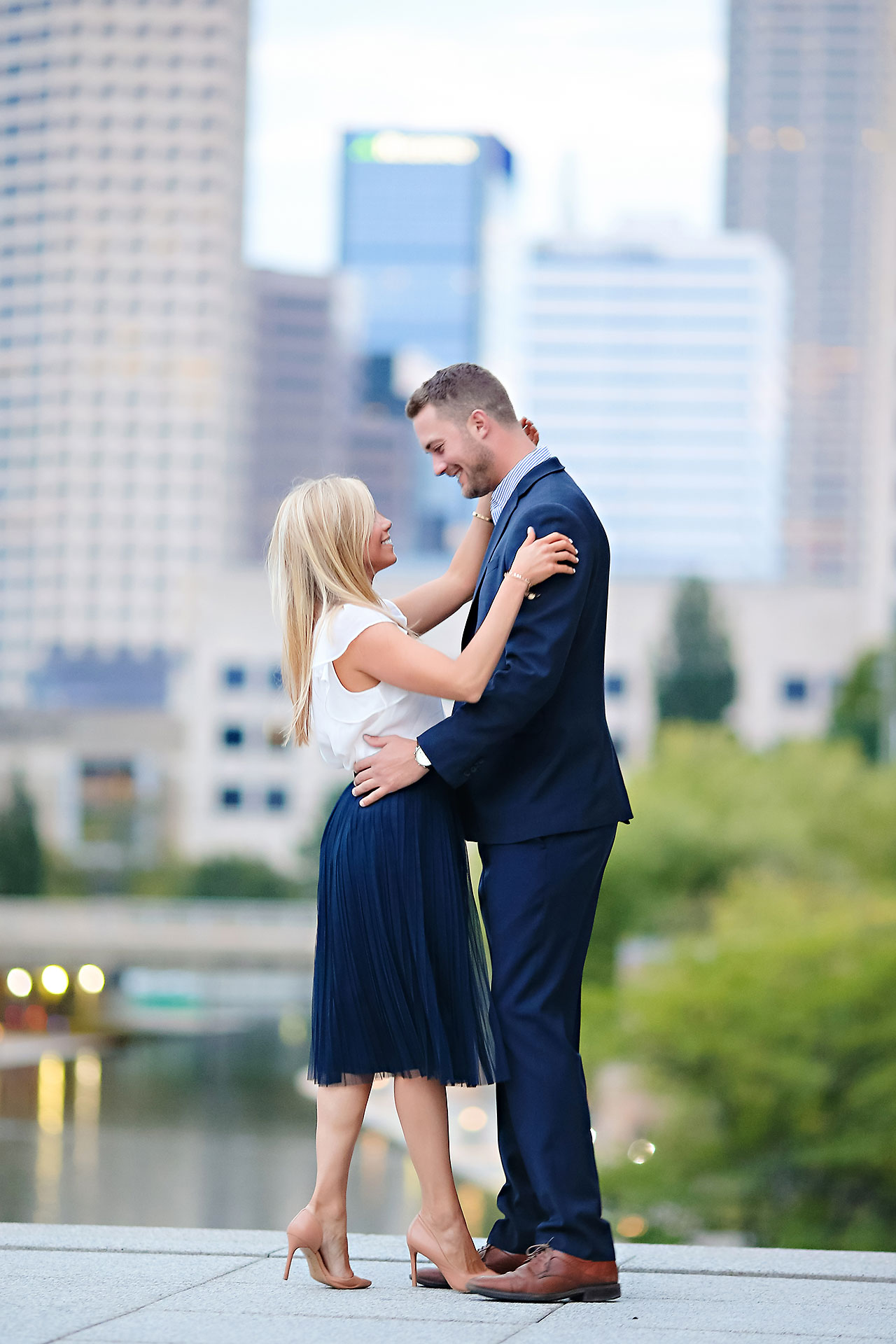 Jennie Mark Downtown Indianapolis Engagement Session 133