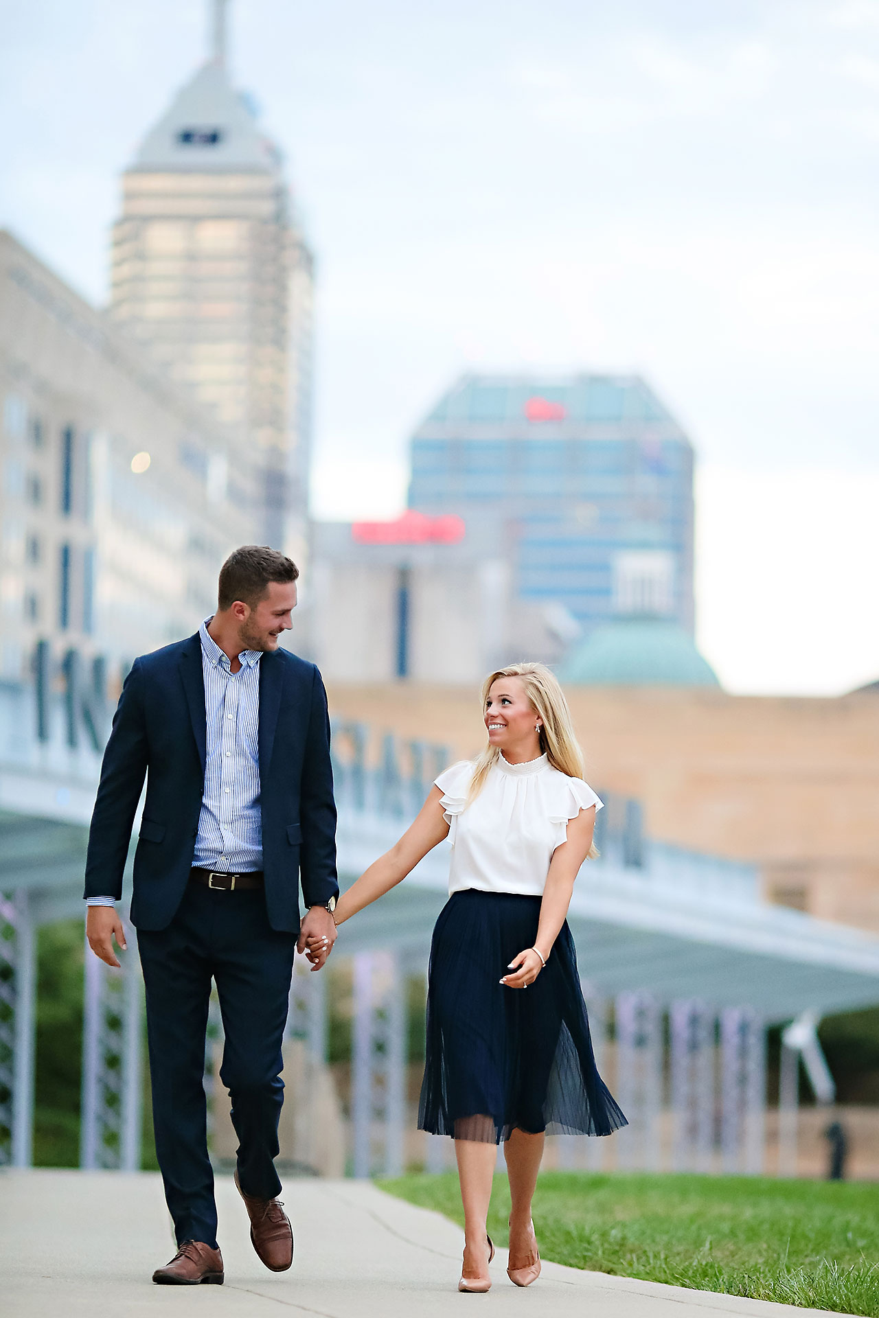 Jennie Mark Downtown Indianapolis Engagement Session 134