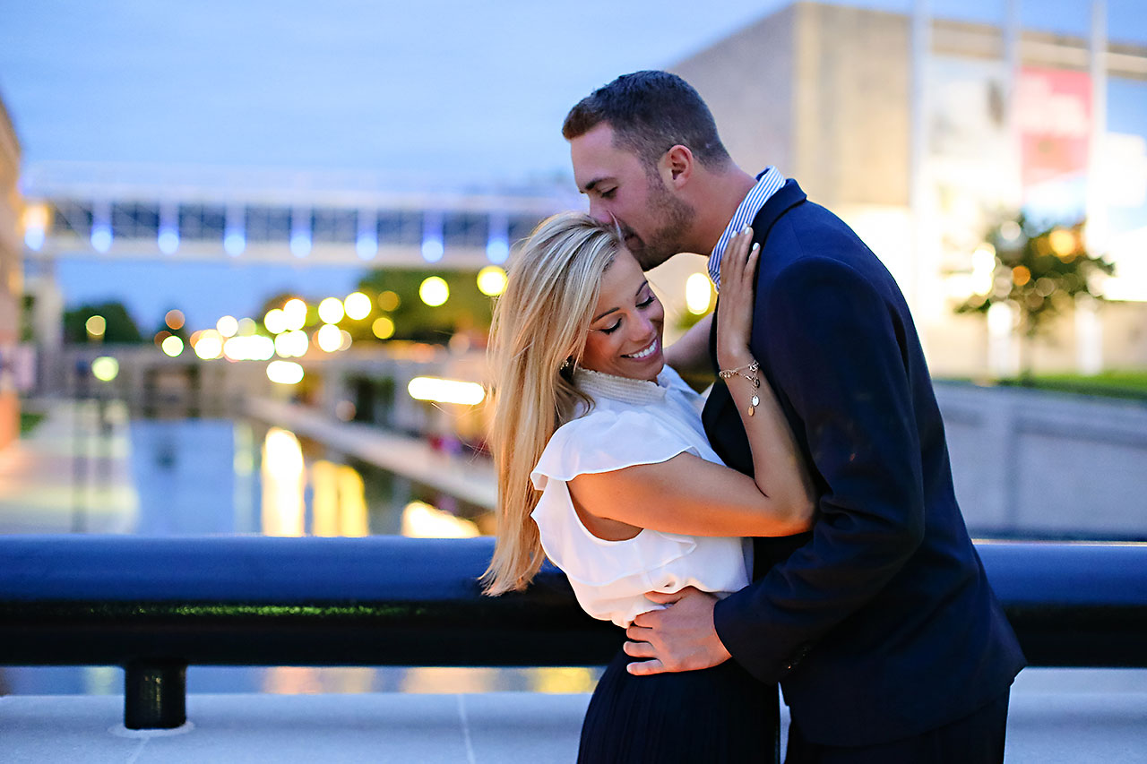 Jennie Mark Downtown Indianapolis Engagement Session 131