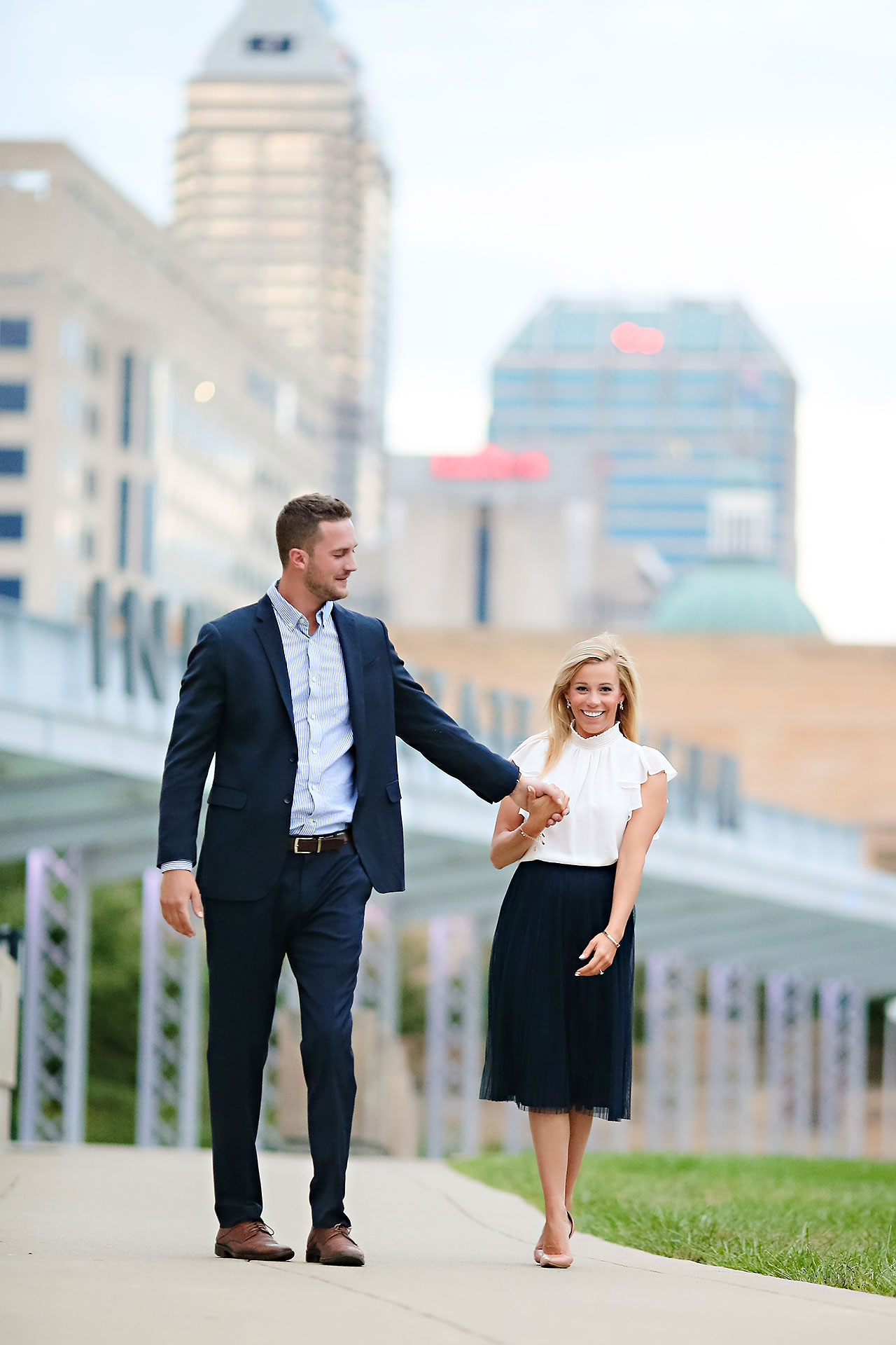 Jennie Mark Downtown Indianapolis Engagement Session 132