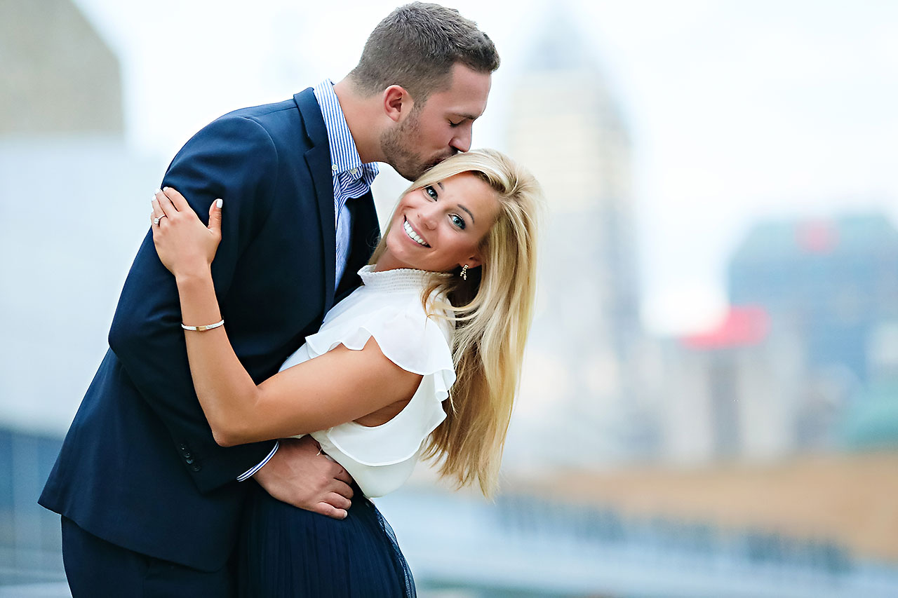 Jennie Mark Downtown Indianapolis Engagement Session 127