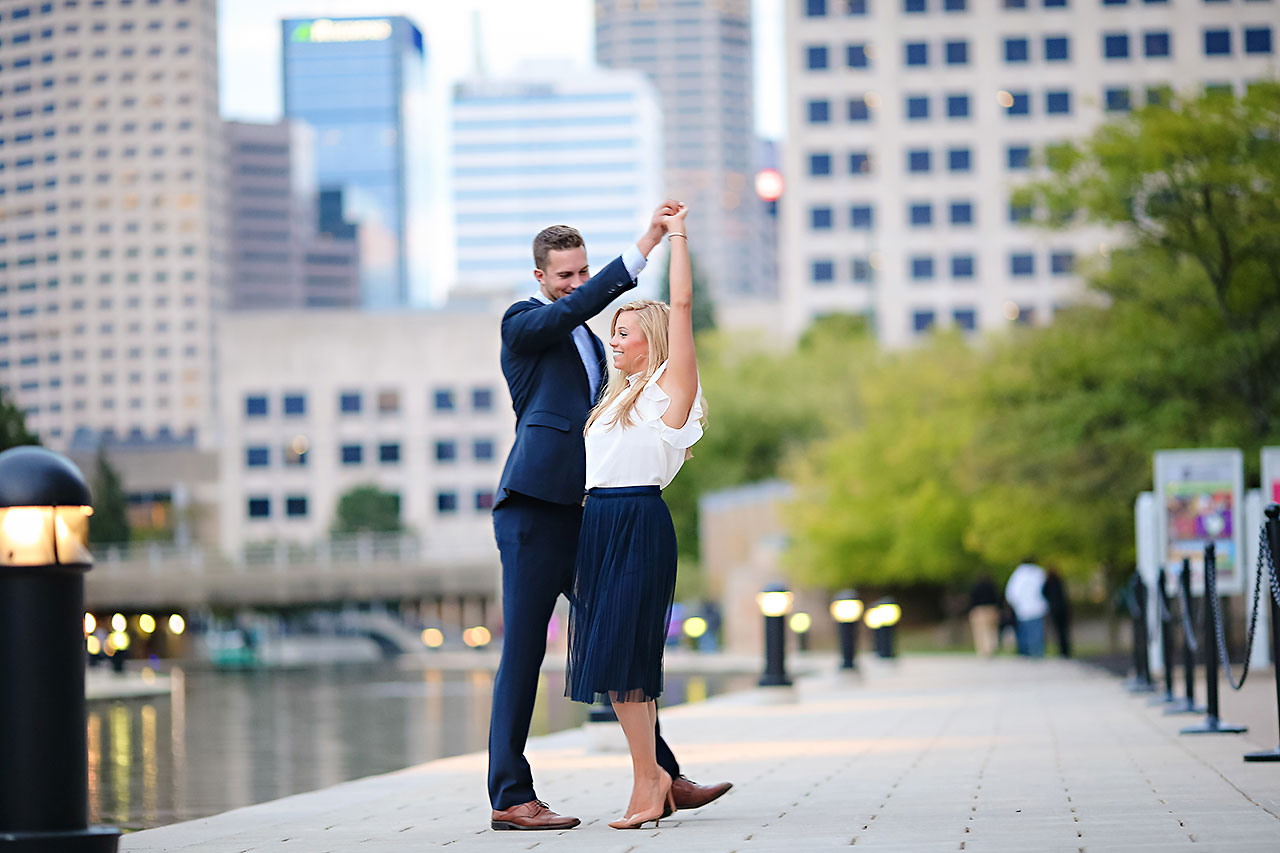 Jennie Mark Downtown Indianapolis Engagement Session 128