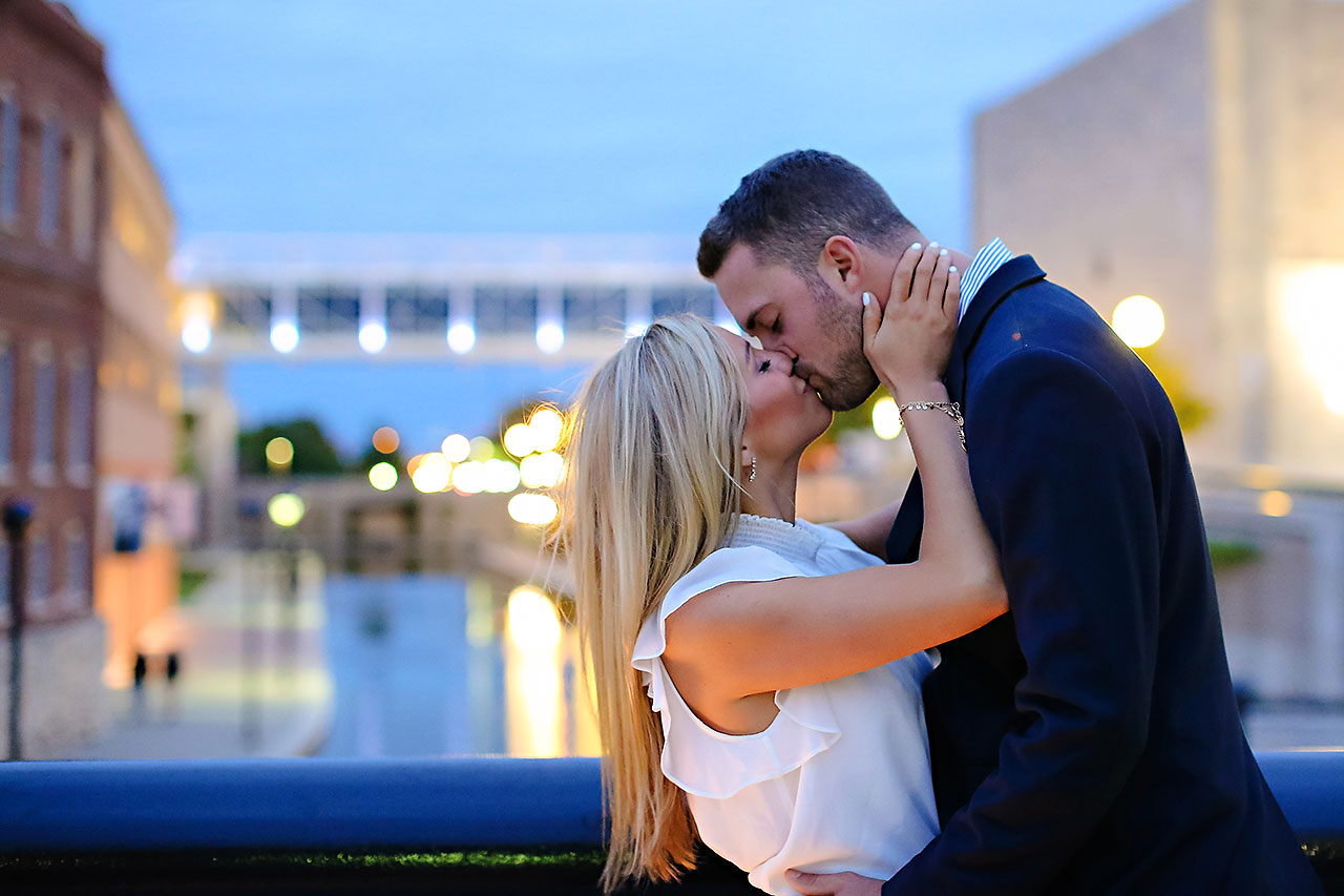 Jennie Mark Downtown Indianapolis Engagement Session 129