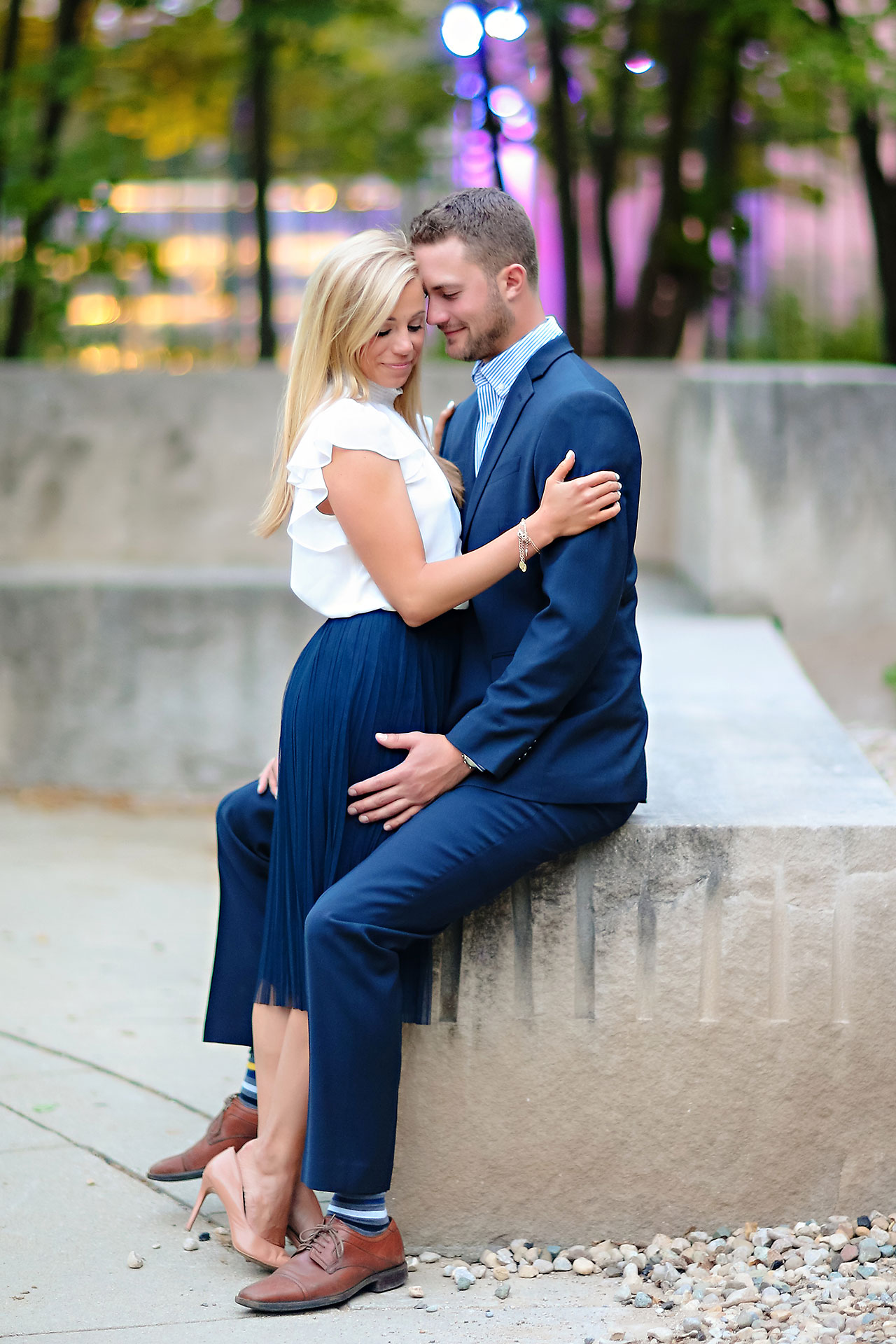 Jennie Mark Downtown Indianapolis Engagement Session 123