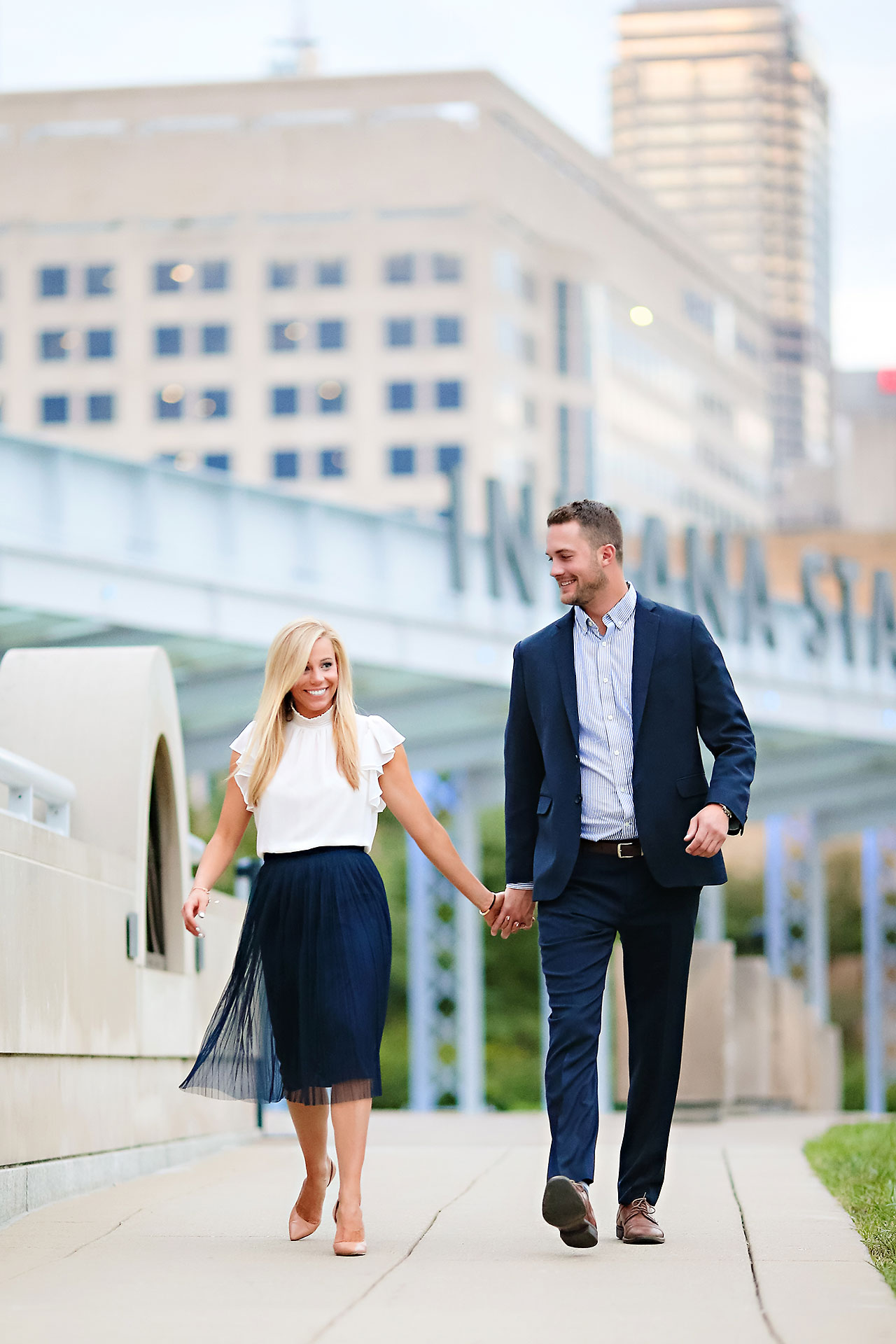 Jennie Mark Downtown Indianapolis Engagement Session 124