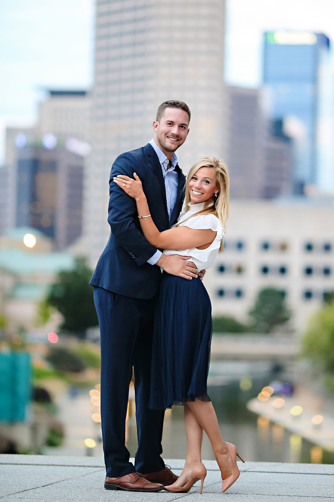 Jennie Mark Downtown Indianapolis Engagement Session 119
