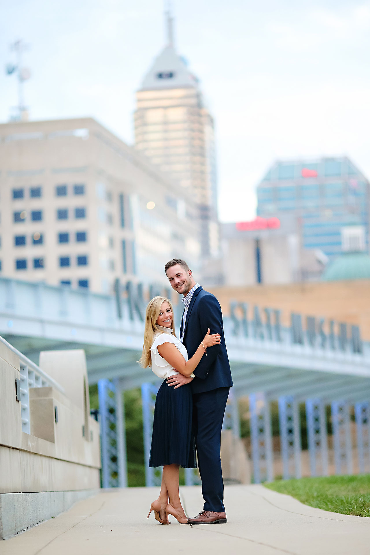 Jennie Mark Downtown Indianapolis Engagement Session 120