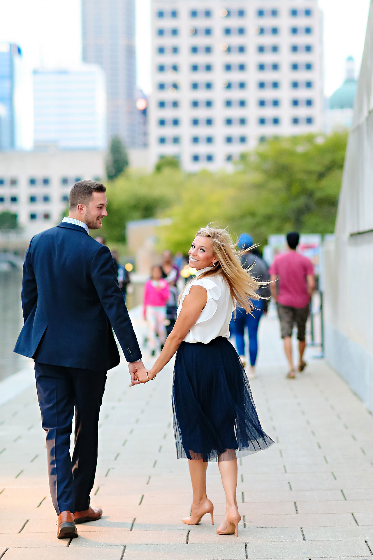 Jennie Mark Downtown Indianapolis Engagement Session 121