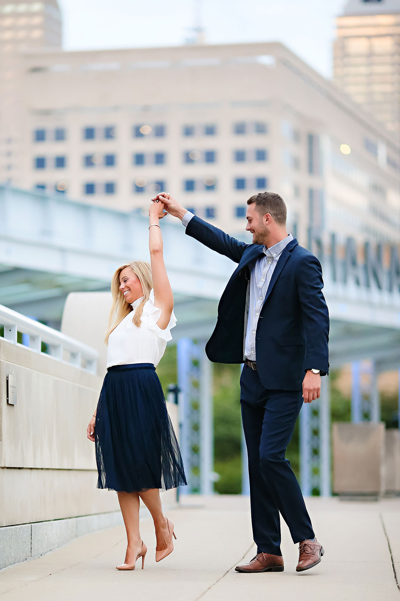 Jennie Mark Downtown Indianapolis Engagement Session 118