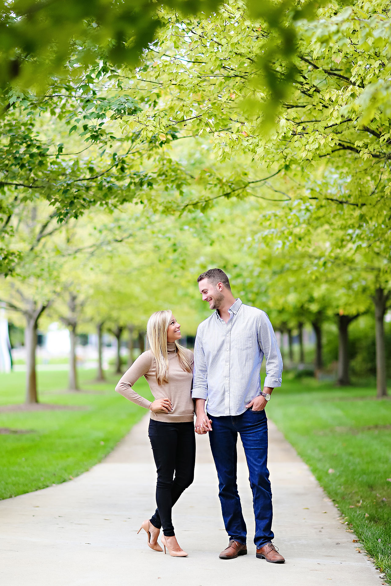Jennie Mark Downtown Indianapolis Engagement Session 115