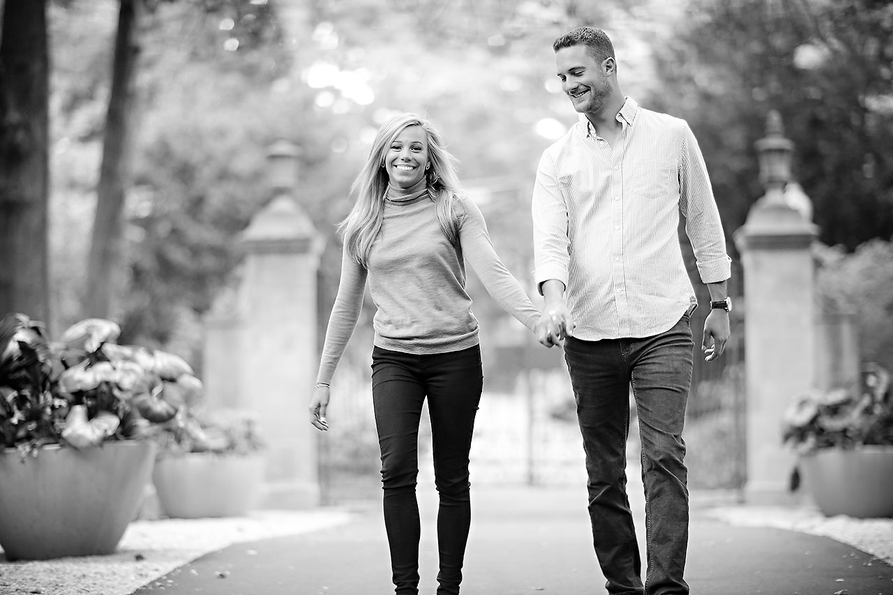 Jennie Mark Downtown Indianapolis Engagement Session 112