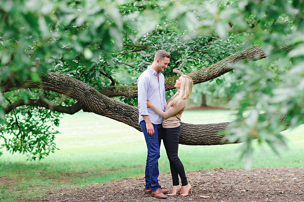 Jennie Mark Downtown Indianapolis Engagement Session 109