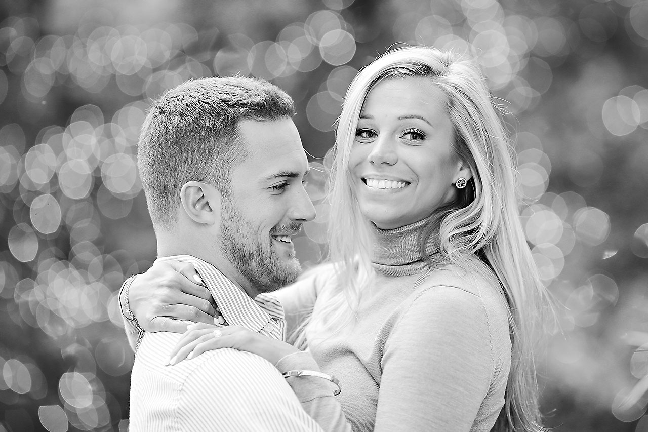 Jennie Mark Downtown Indianapolis Engagement Session 104