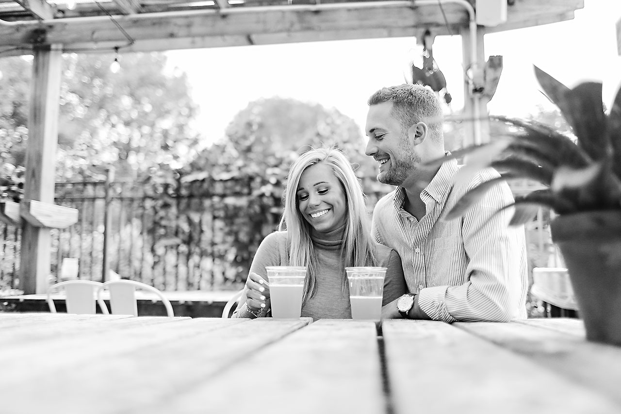 Jennie Mark Downtown Indianapolis Engagement Session 102