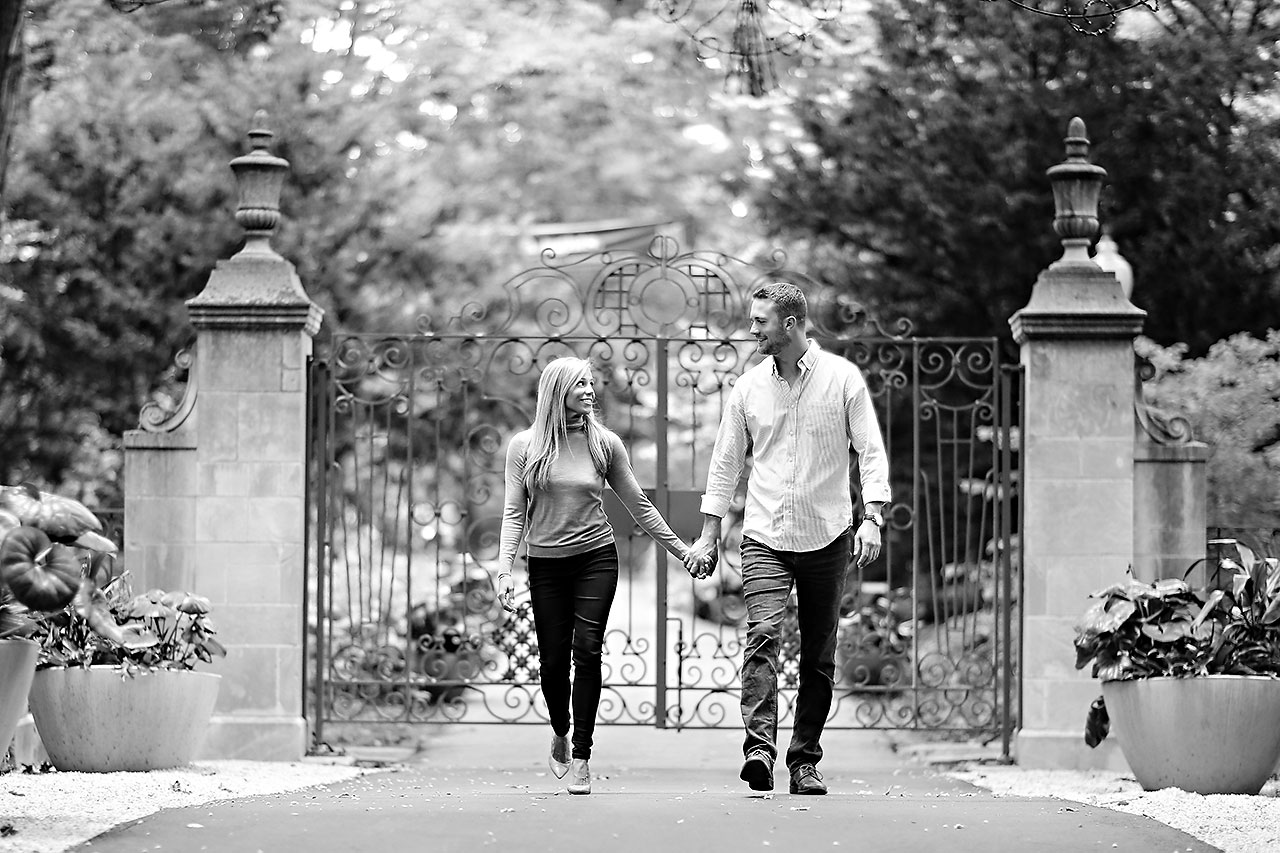 Jennie Mark Downtown Indianapolis Engagement Session 082