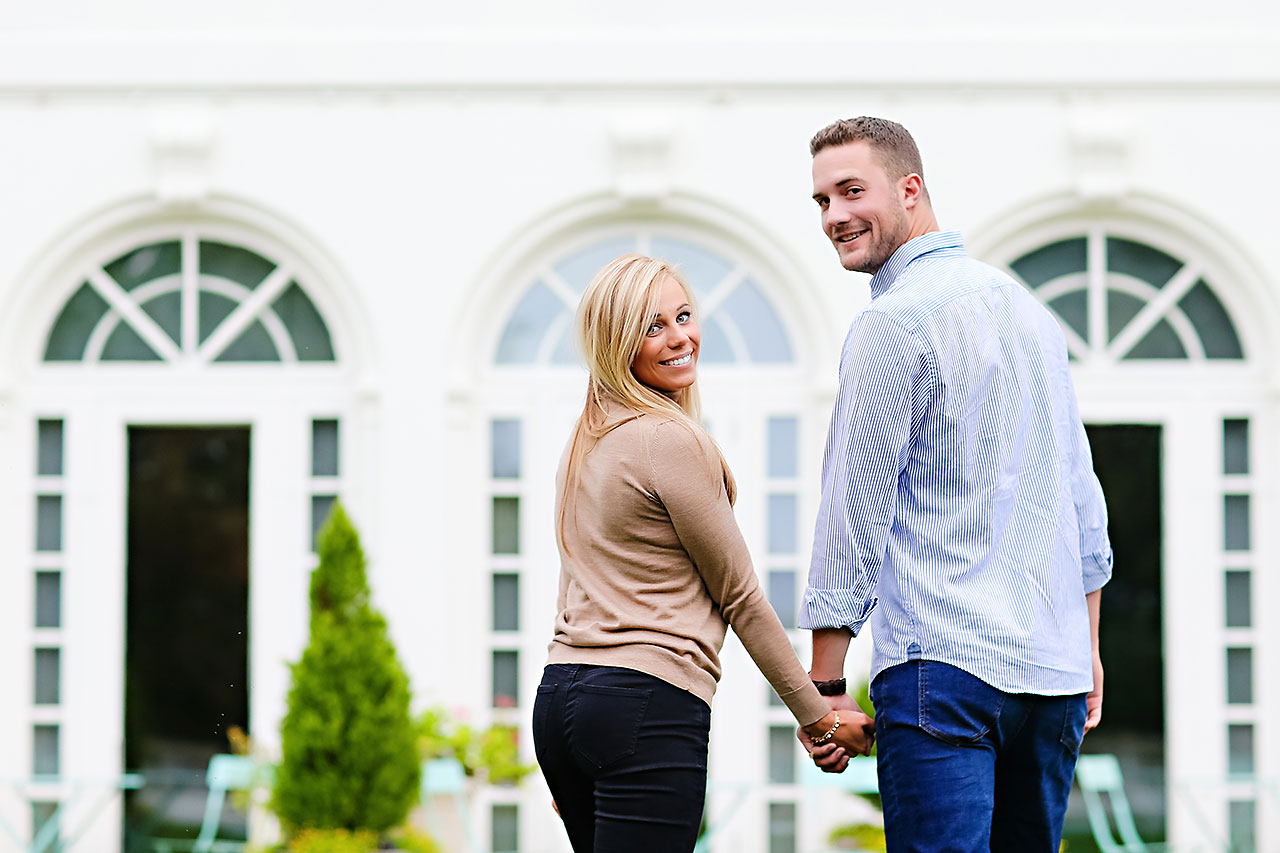 Jennie Mark Downtown Indianapolis Engagement Session 078