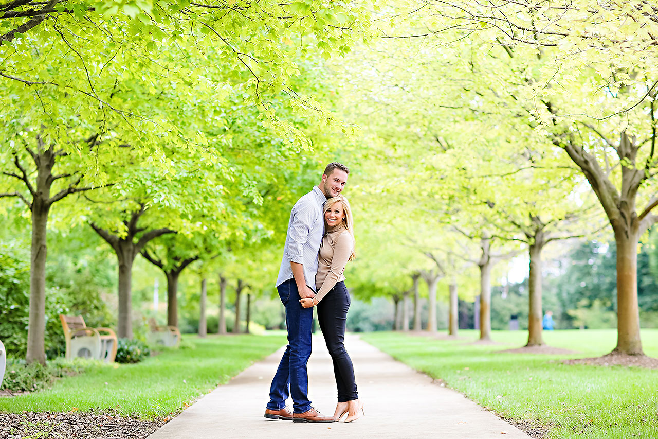 Jennie Mark Downtown Indianapolis Engagement Session 079