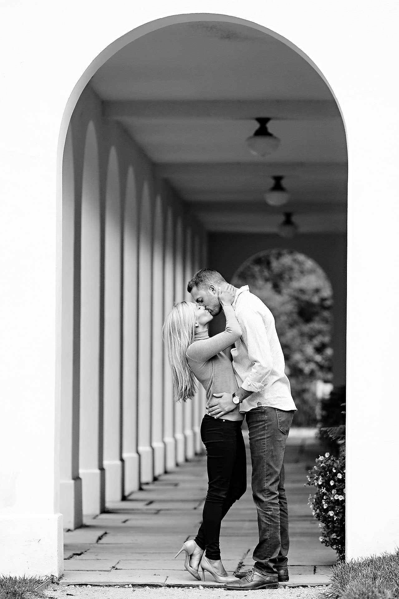Jennie Mark Downtown Indianapolis Engagement Session 069