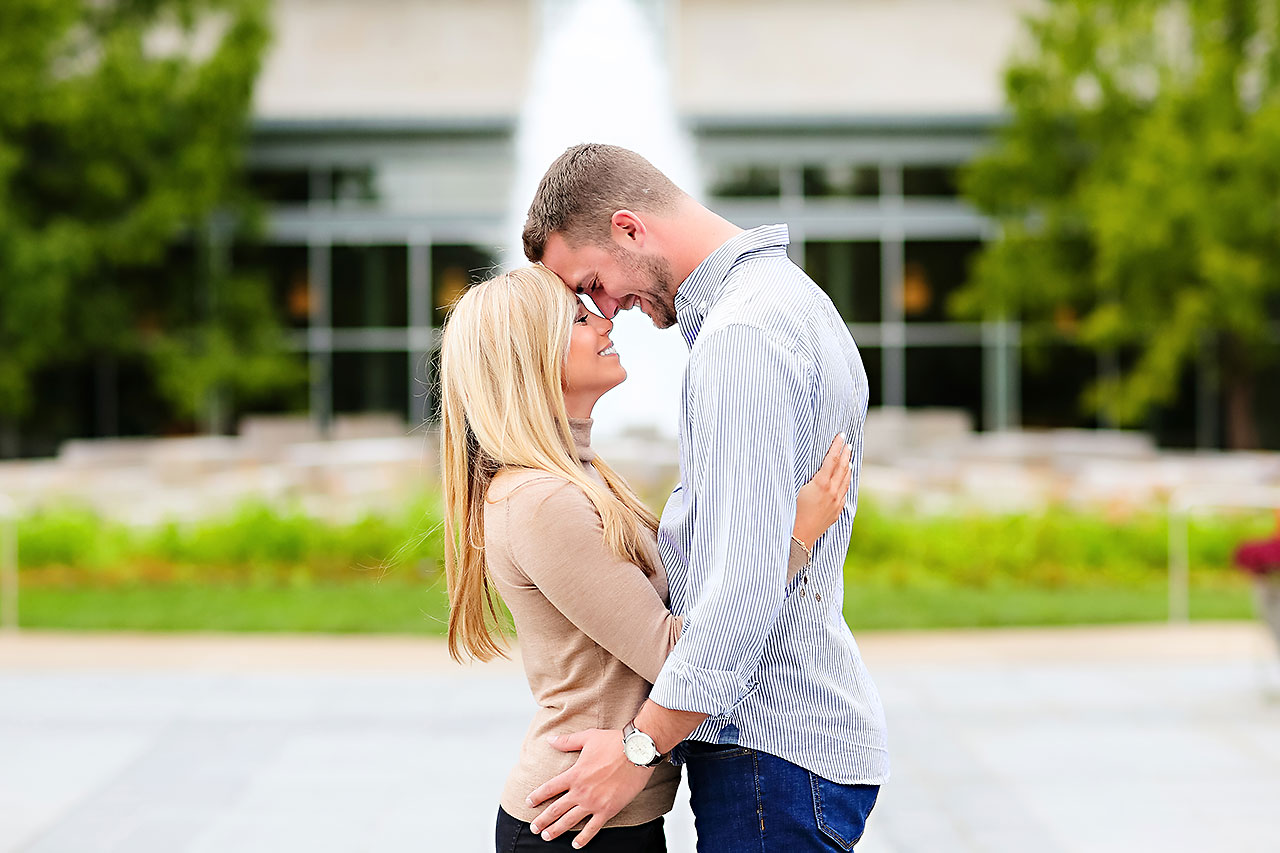 Jennie Mark Downtown Indianapolis Engagement Session 049