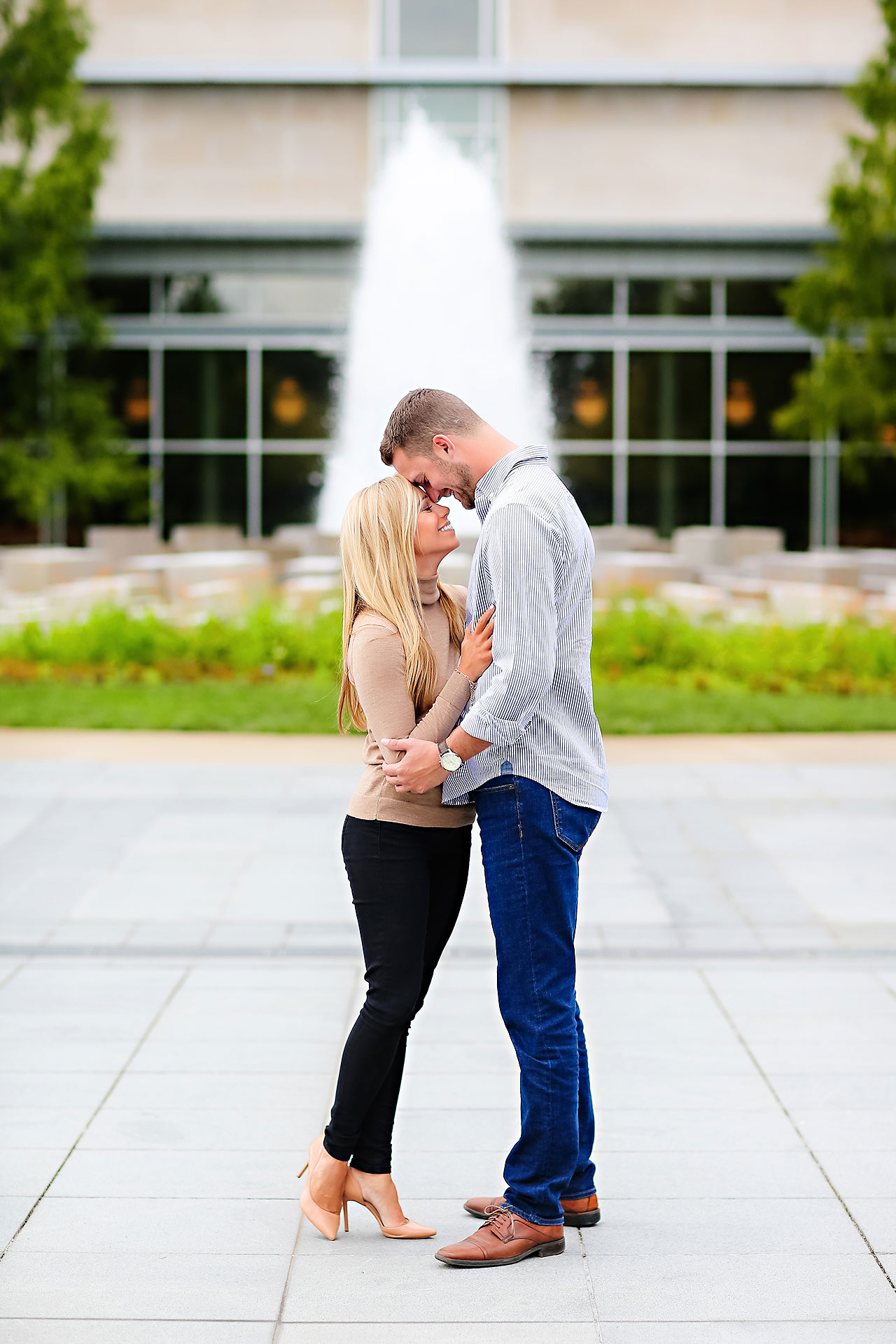Jennie Mark Downtown Indianapolis Engagement Session 013