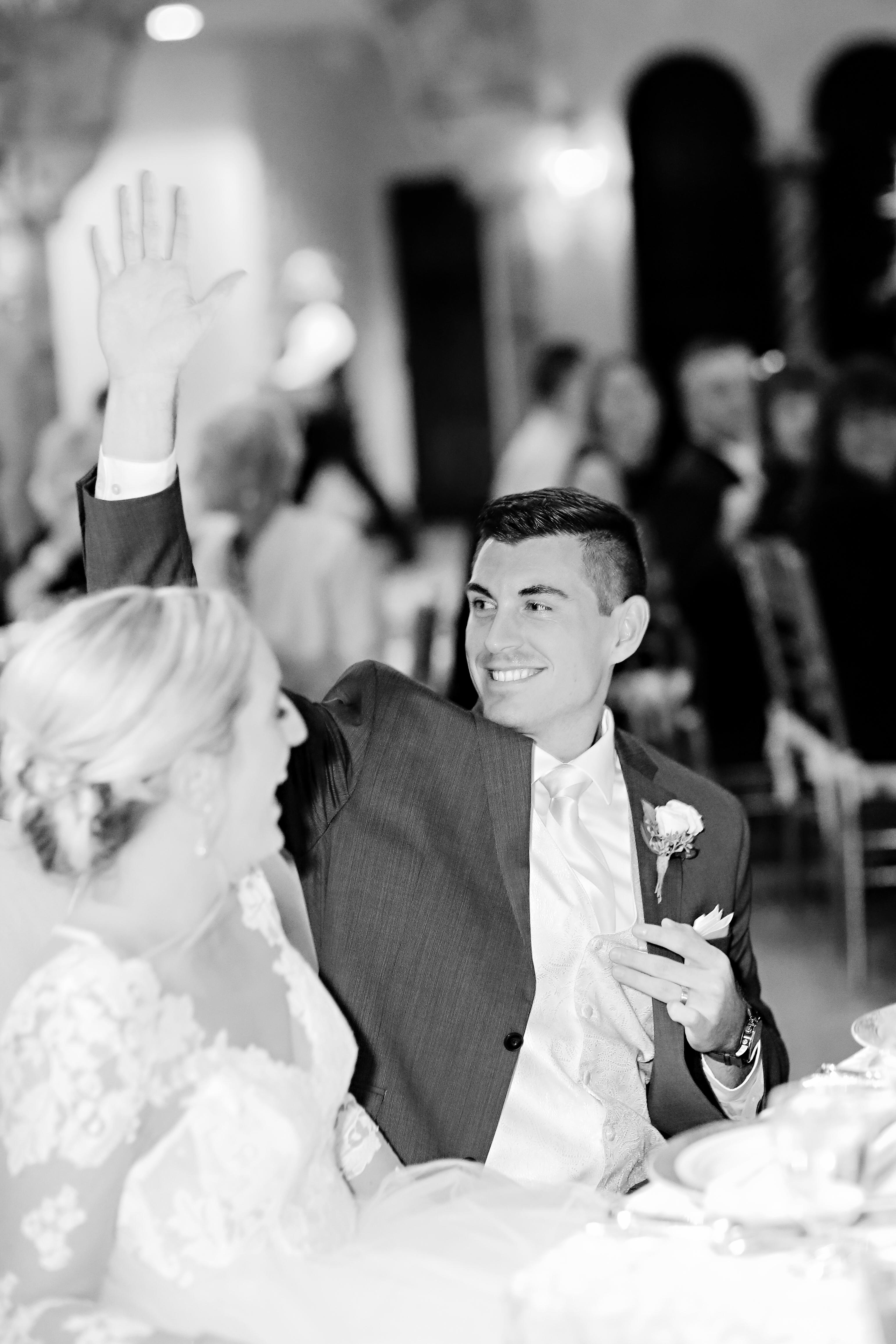 Jordan Ryan Indiana Roof Ballroom Wedding 319